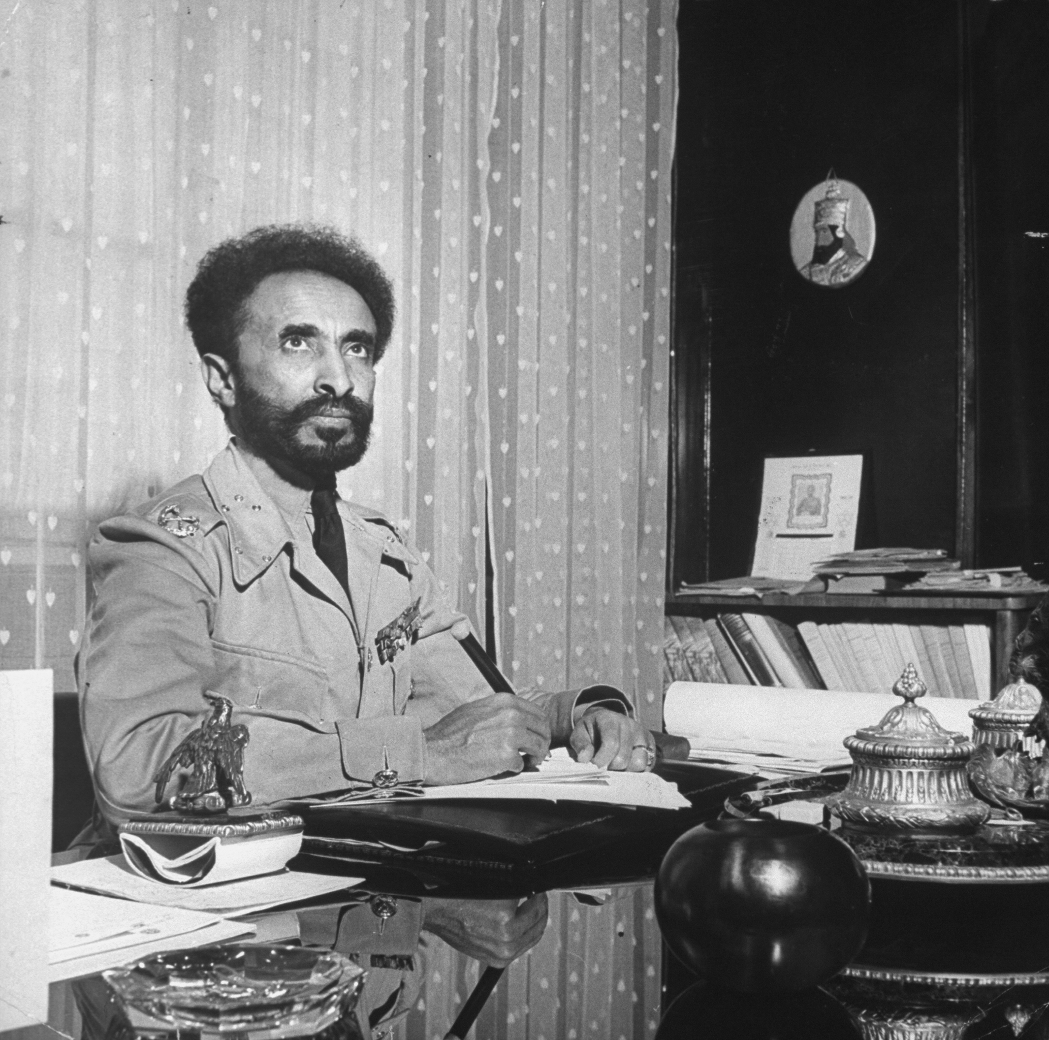 Above all, Haile Selassie has created a general, warm and blind sympathy for uncivilized Ethiopia throughout civilized Christendom. In the wake of the world's grandiose Depression, with millions of white men uncertain as to the benefits of civilization, 1935 produced a peculiar Spirit of the Year in which it was felt to be a crying shame that the Machine Age seemed about to intrude upon Africa's last free, unscathed and simple people. They were ipso facto Noble Savages, and the noblest Ethiopian of them all naturally emerged as Man of the Year.  —
