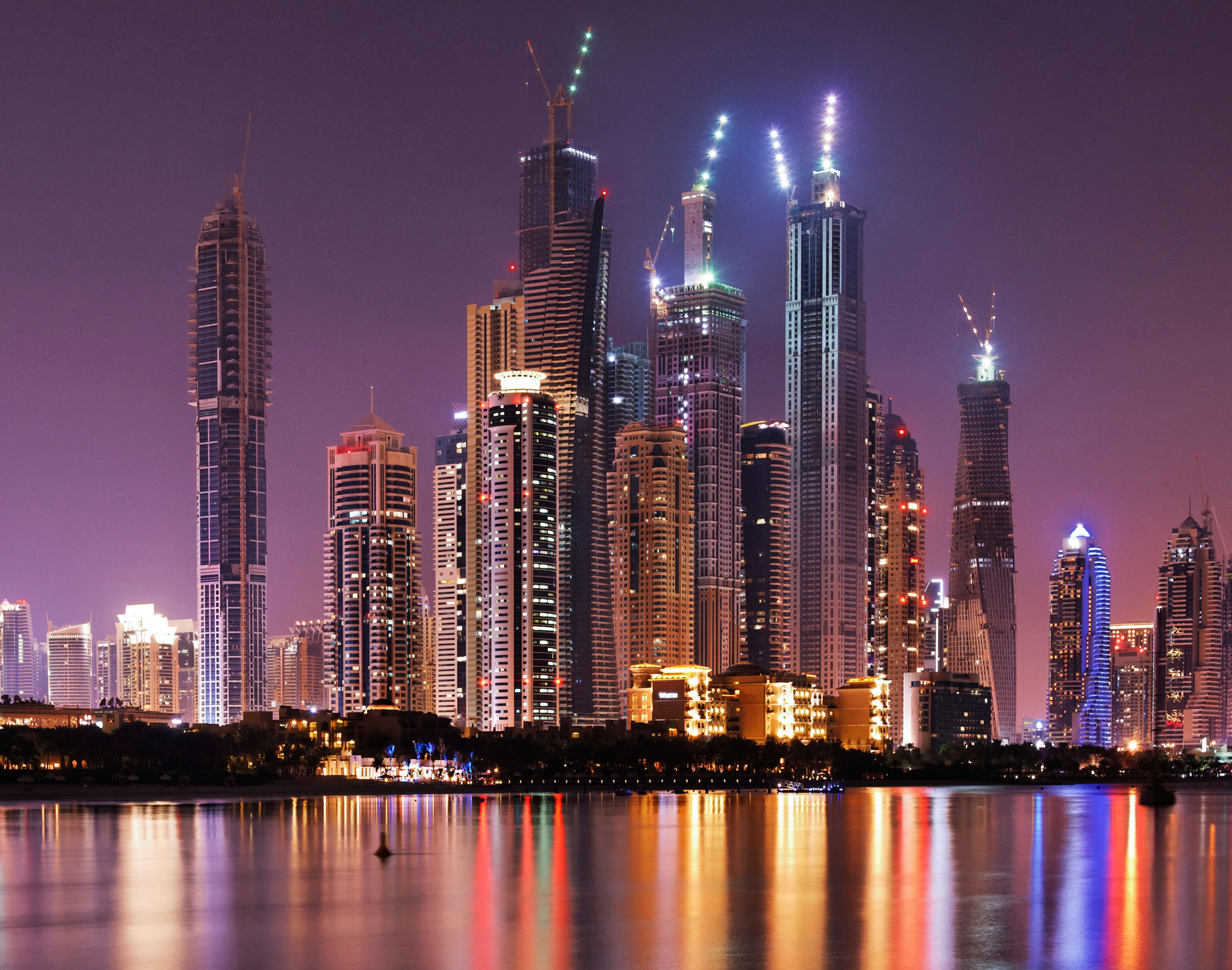 The skyline of Dubai Marina in the United Arab Emirates, whose growth has helped propel the  frontier  markets.