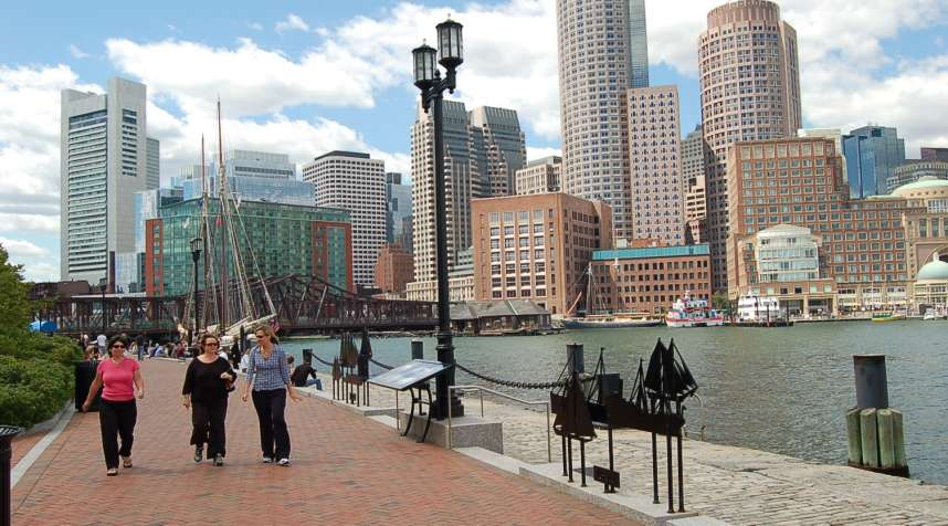 Urbanization of next-door neighbor Cambridge is one of the chief reasons Boston's walkability is on the rise.