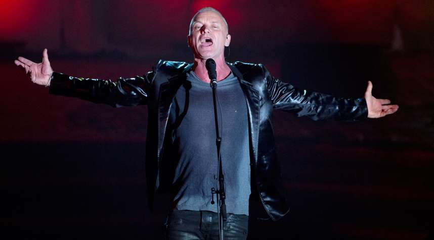 Musician Sting performs during the 44th Annual Songwriters Hall of Fame ceremony in New York June 13, 2013.