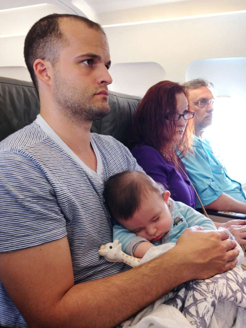 Luke is magically sleeping, while his father is fighting to stay still