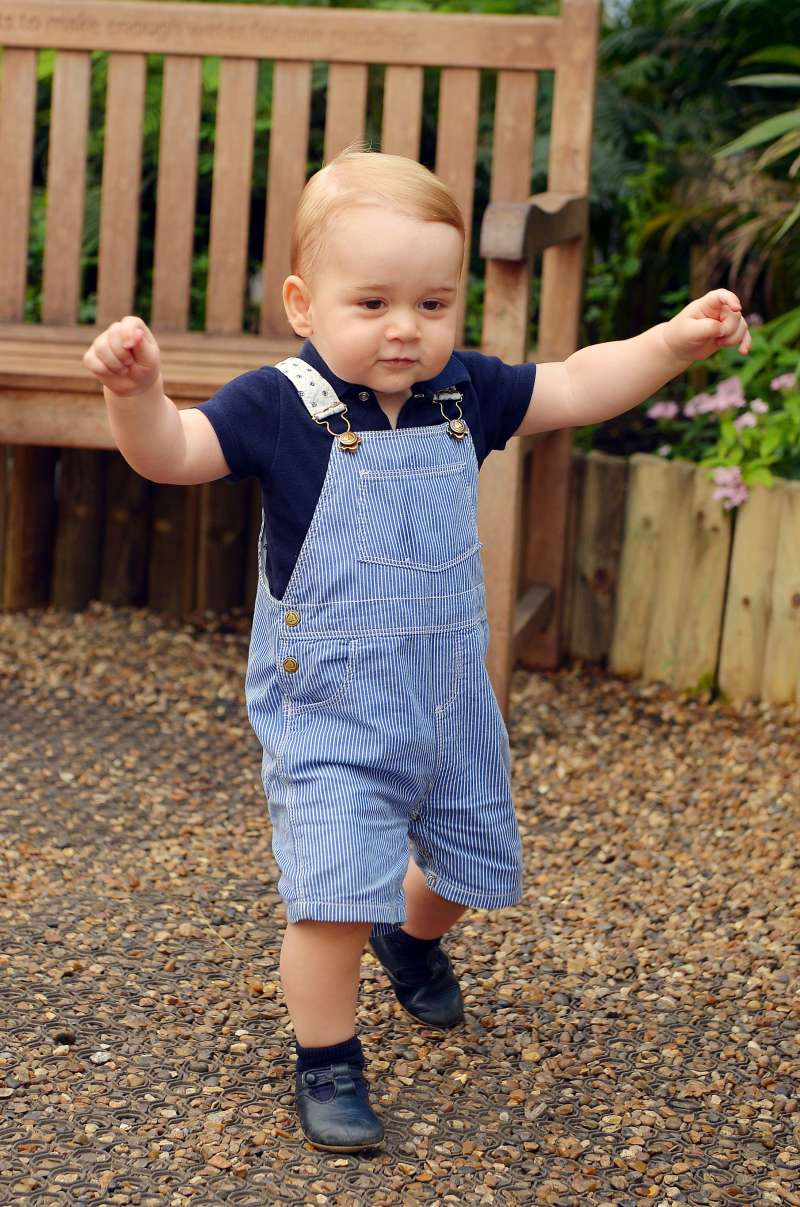 At just 1 year old, Britain's Prince George is still too young to know just how different he is from other tykes.