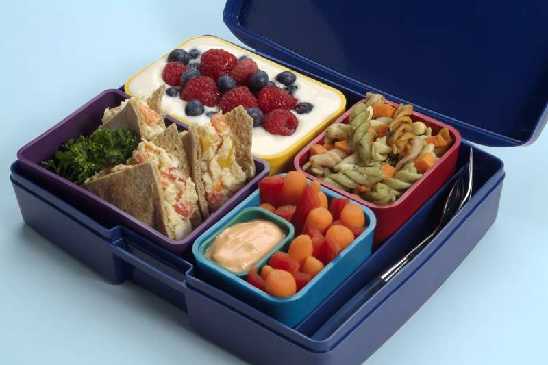PB& J in a Spiderman lunch box, or a Laptop Lunches bento set with carrots and yogurt?
