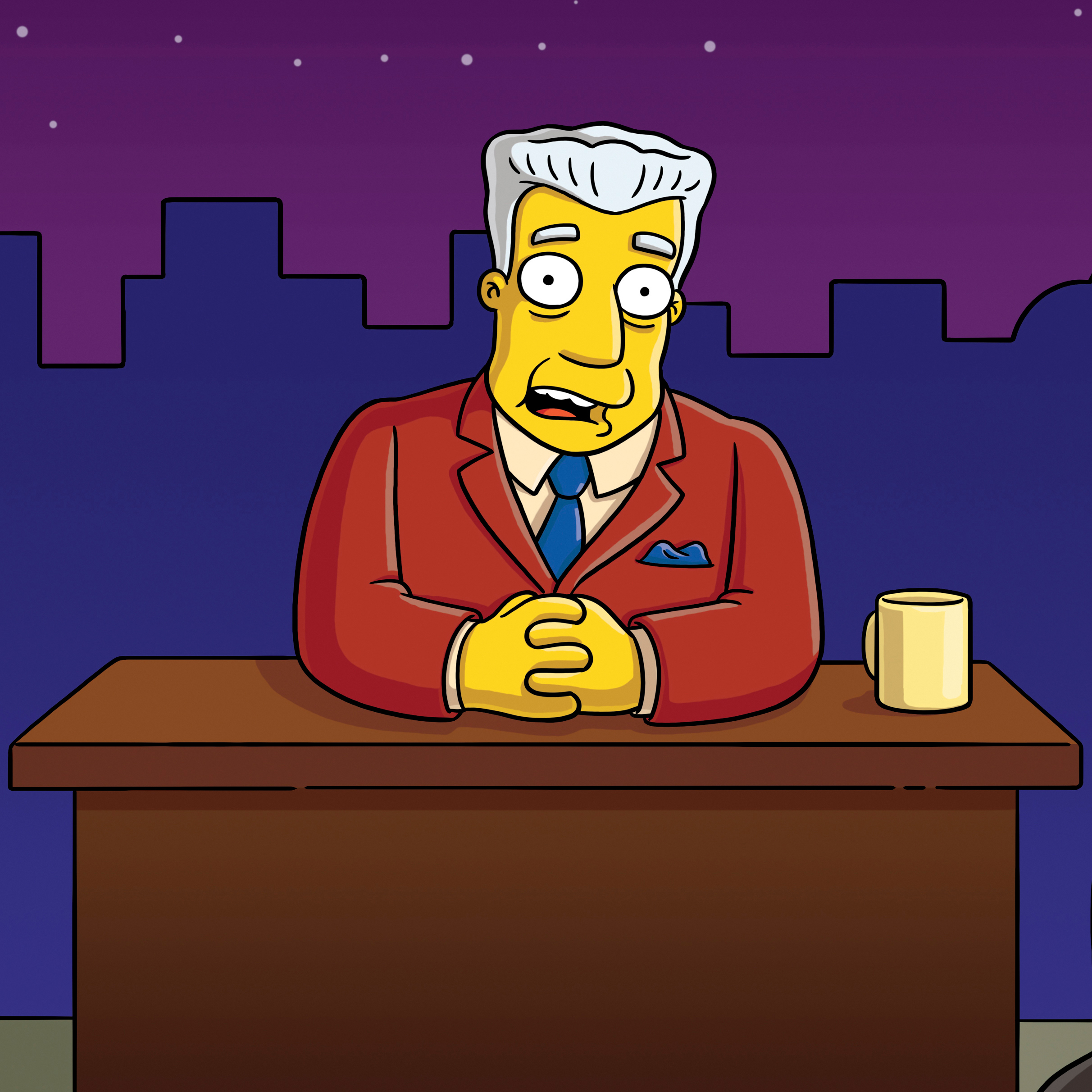 Kent Brockman on THE SIMPSONS