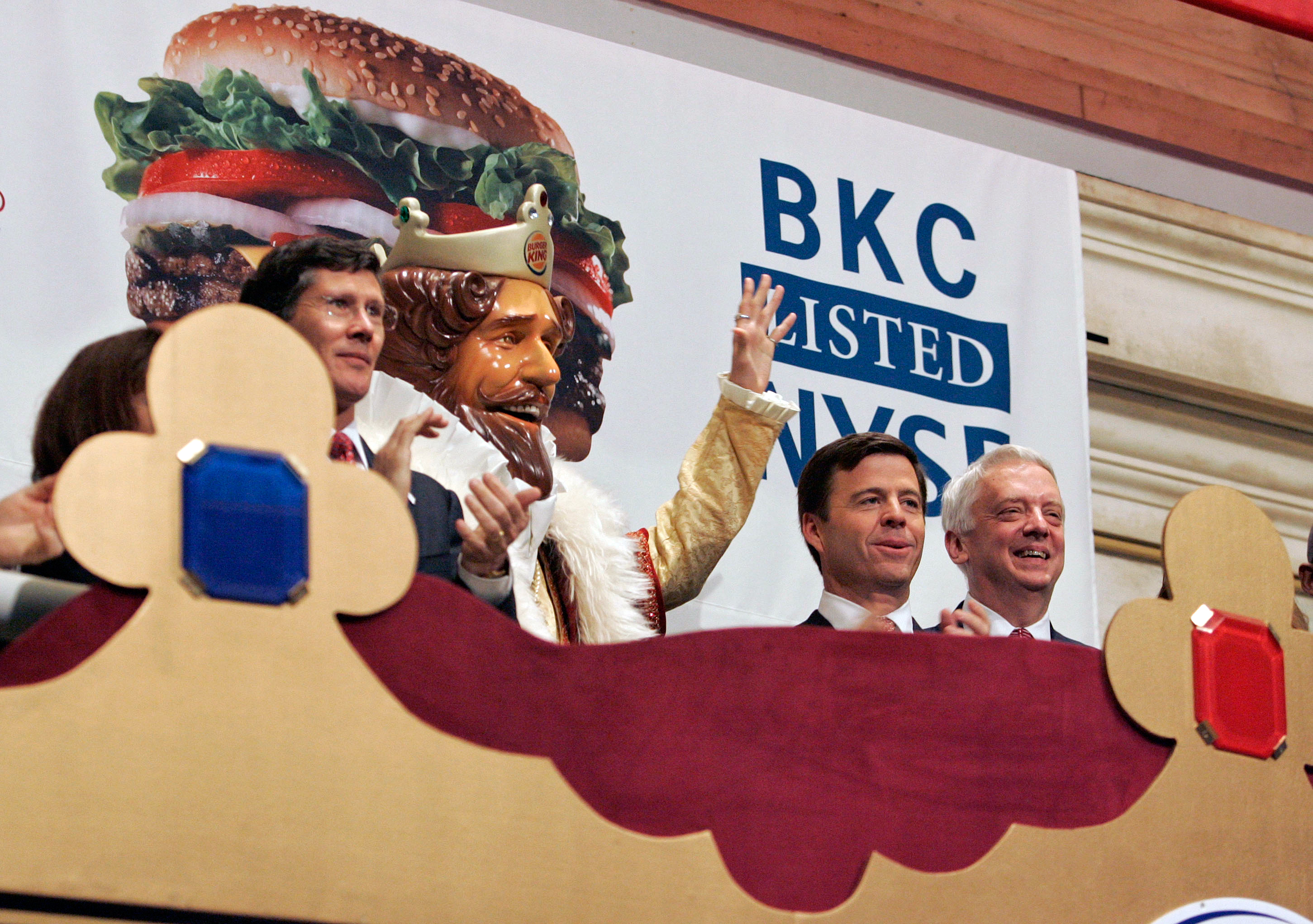THE KING COMES HOME                                       In 1997, Grand Metropolitan merged with Guinness, forming Diageo. The new company decided to focus on liquor instead of food, and sold Burger King to a mix of private equity firms in 2002. The company went public with a New York Stock Exchange listing in 2006.