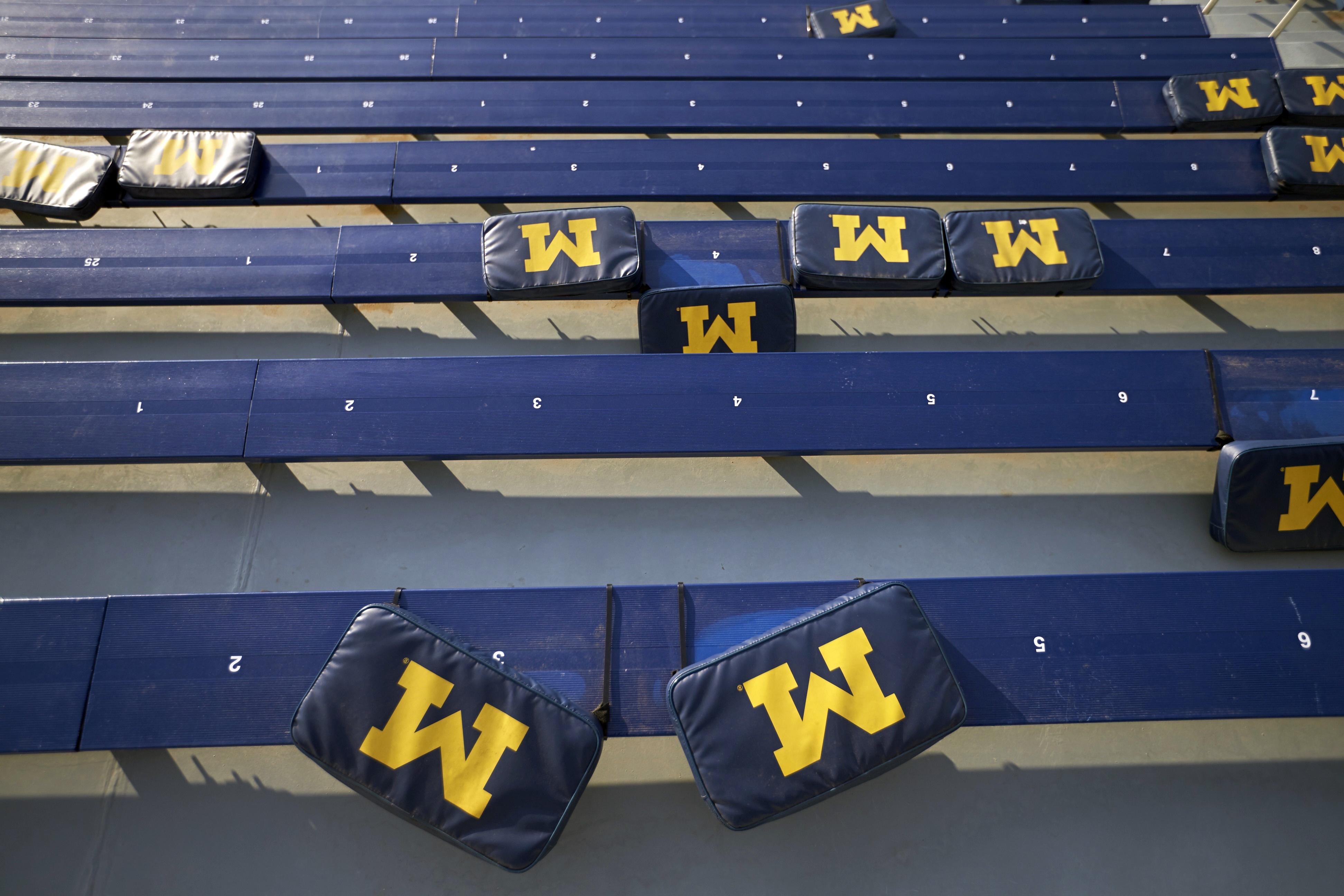 Bleachers at Michigan Stadium.