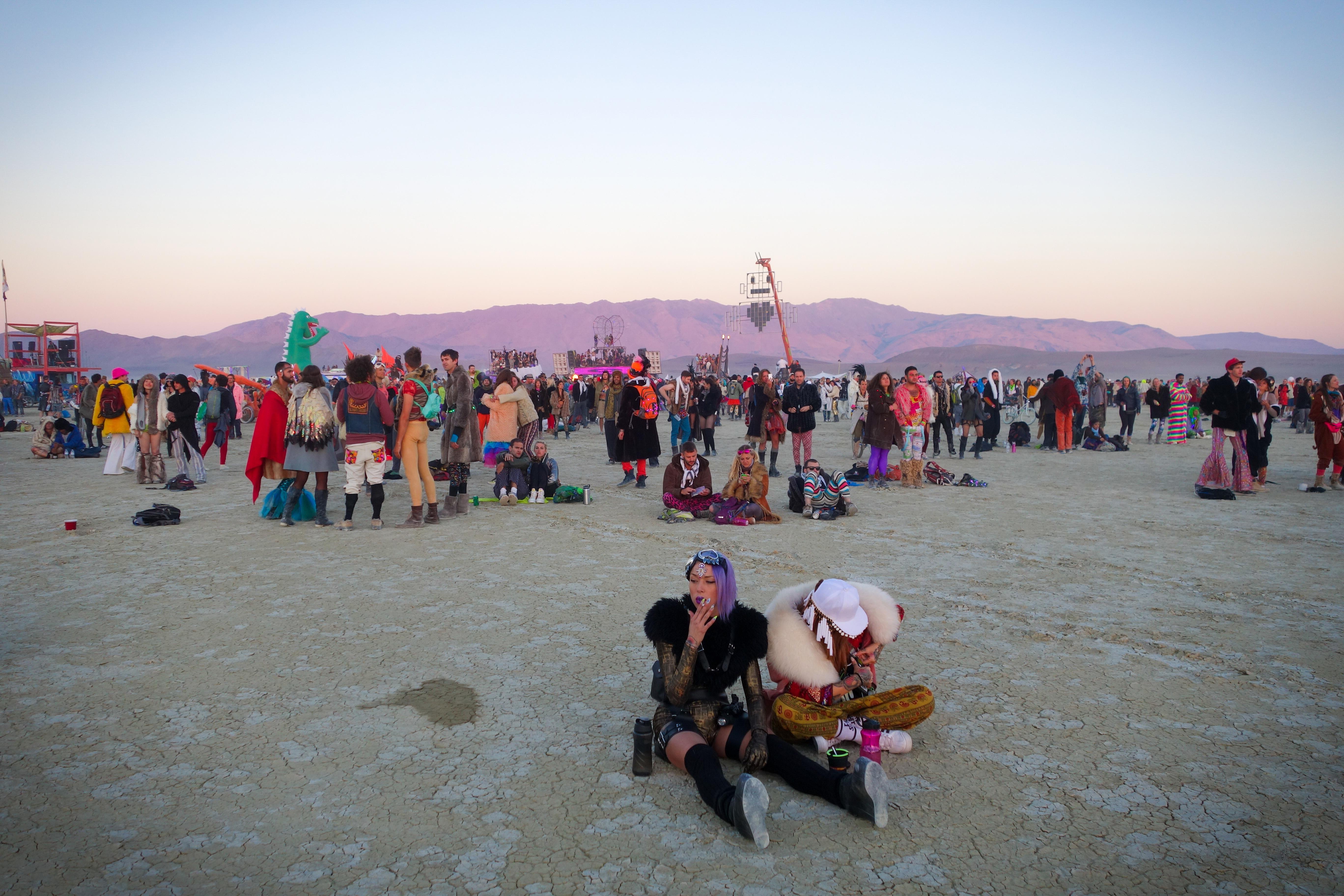 Dawn at Robot Heart,  Burning Man,  Nevada, 2014.