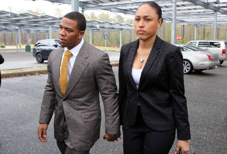 Ray Rice with his wife, Janay Palmer.