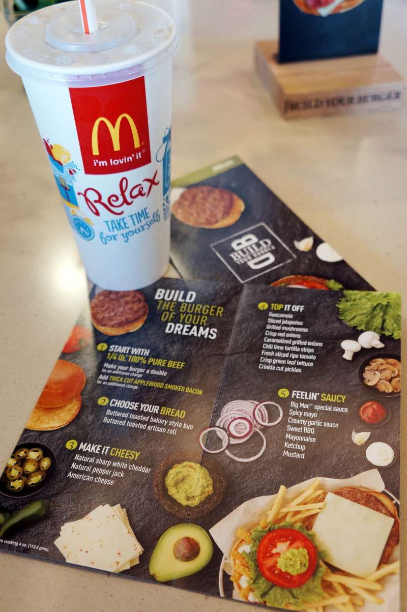 McDonald's is testing a program in which customers can personalize burger orders using a tablet.
