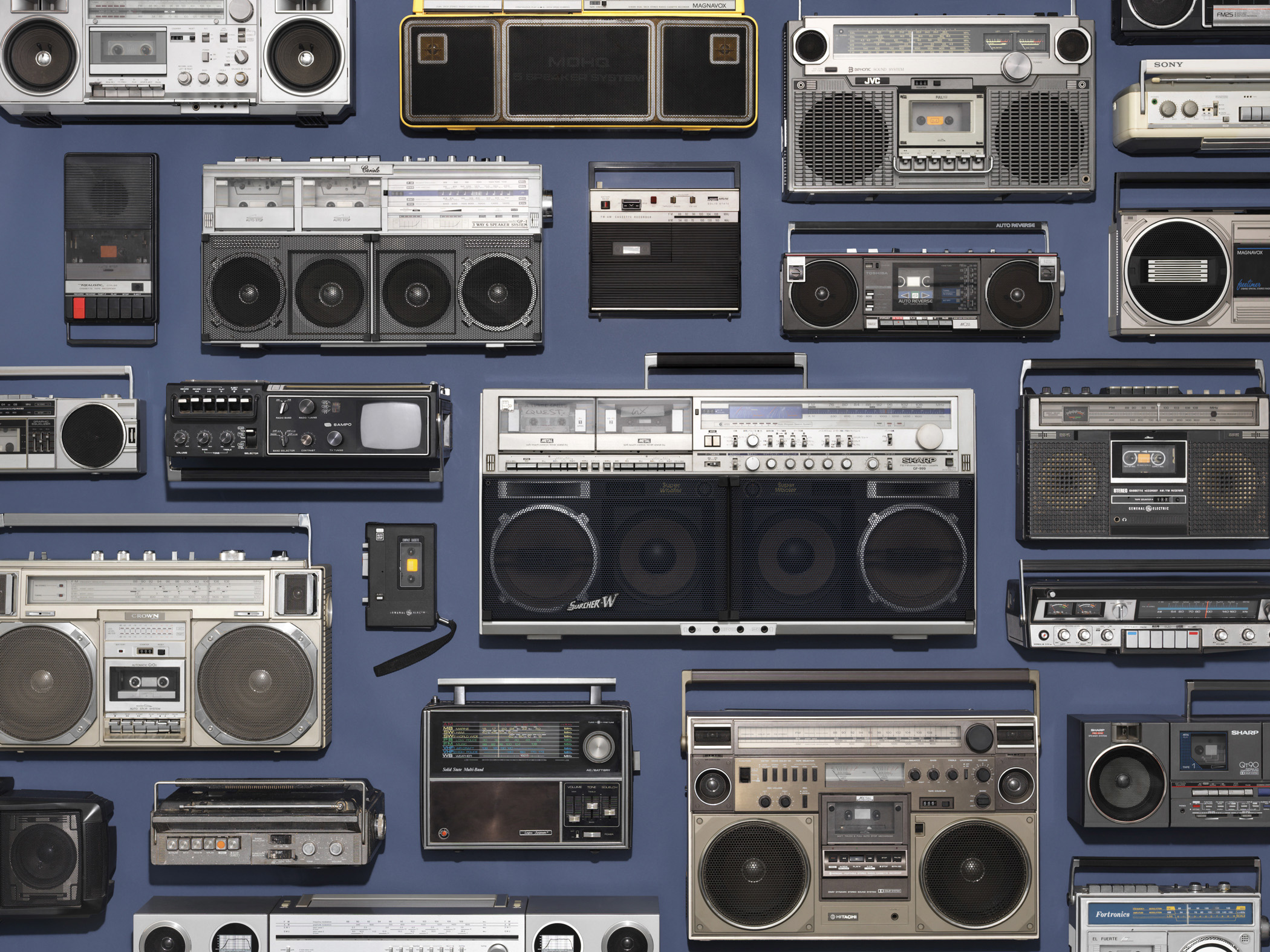 "BoomBox Collection. List Price of 1982 Sanyo model M9901: $80, List Price of 1982 Sony model CFS-45: $140, per <a href=""http://books.google.com/books?id=qwMEAAAAMBAJ&amp;pg=PA34&amp;dq=boom+box+prices&amp;hl=en&amp;sa=X&amp;ei=P0ocVOiSM9WzyATIz4KoDQ&amp;ved=0CD8Q6AEwAQ#v=onepage&amp;q=boom%20box%20prices&amp;f=false"" title=""Kiplinger's Personal Finance"" target=""_blank"">Kiplinger's Personal Finance</a>. <strong>Today's equivalent: </strong> <a href=""http://store.apple.com/us/buy-ipod/ipod-touch"" title=""iPod Touch 16GB"" target=""_blank"">iPod Touch 16 GB</a> pocket-size media player (List Price: $199) available online at <a href=""http://store.apple.com/"" title=""The Apple Store"" target=""_blank"">the Apple Store</a> and <strong><a href=""http://store.apple.com/us/product/H7423LL/A/big-jambox-by-jawbone-wireless-speaker"" title=""Big JAMBOX Wireless Speaker by Jawbone"" target=""_blank"">Big JAMBOX Wireless Speaker by Jawbone</a></strong> (List Price: $299.95)."