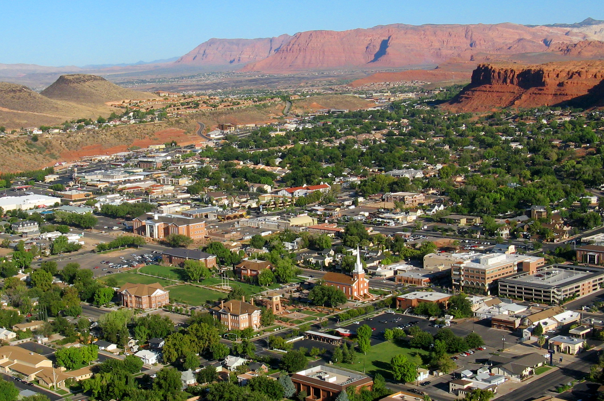 <strong>9. St. George, Utah:</strong> Located on the Utah-Arizona border, St. George is projected to experience 10.4% job growth over the next five years. In addition to its staple, tourism, fast-growing areas include transportation, education, and health services.