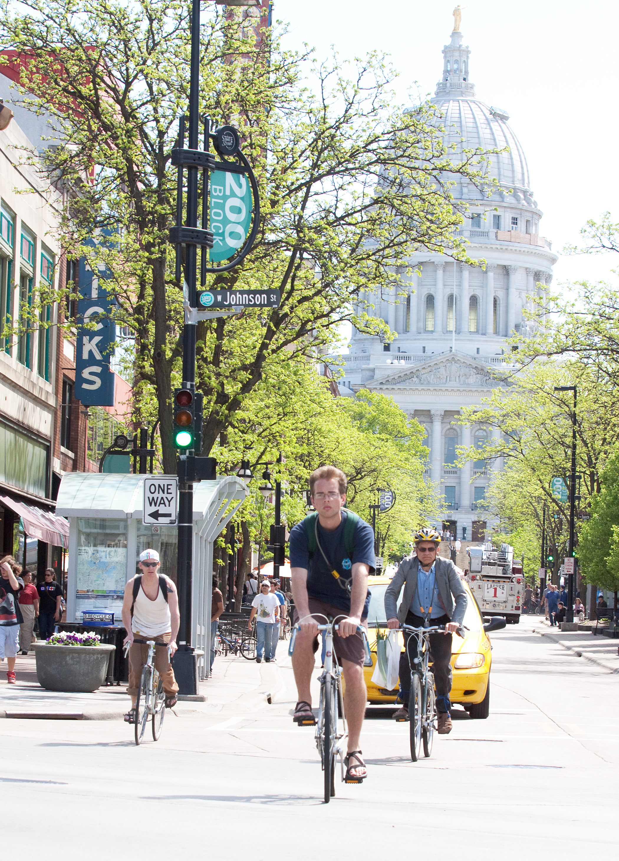 <strong>15. Madison, Wis.</strong>                                       <b>Population: </b>239,115 | <b>Percent Who Primarily Walk/Bike:</b> 14%