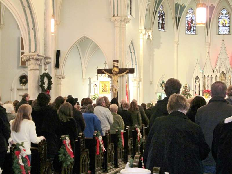 A  Mass Mob  in January packed the pews of Our Lady of Perpetual Help Church in Buffalo, N.Y.