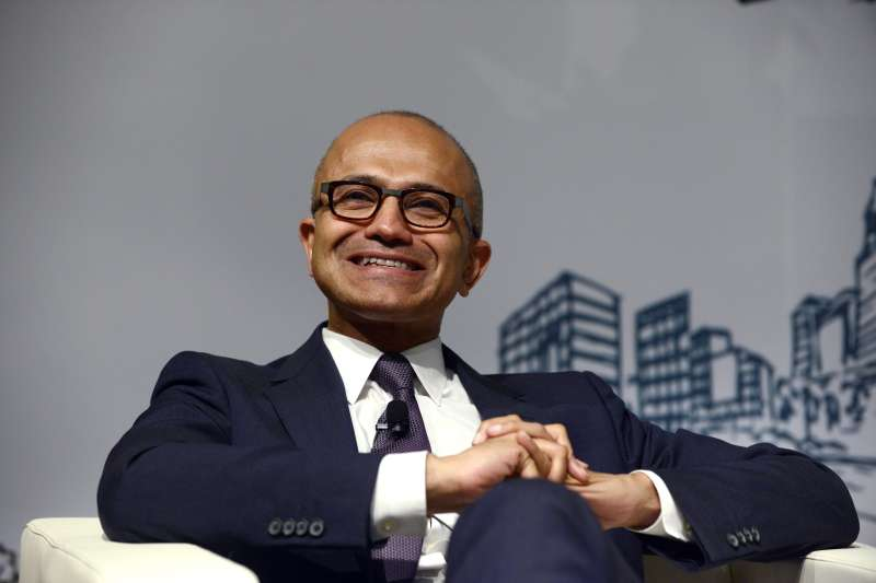 Microsoft CEO Sayta Nadella isn't smiling after his comments about women in the workplace were universally panned.