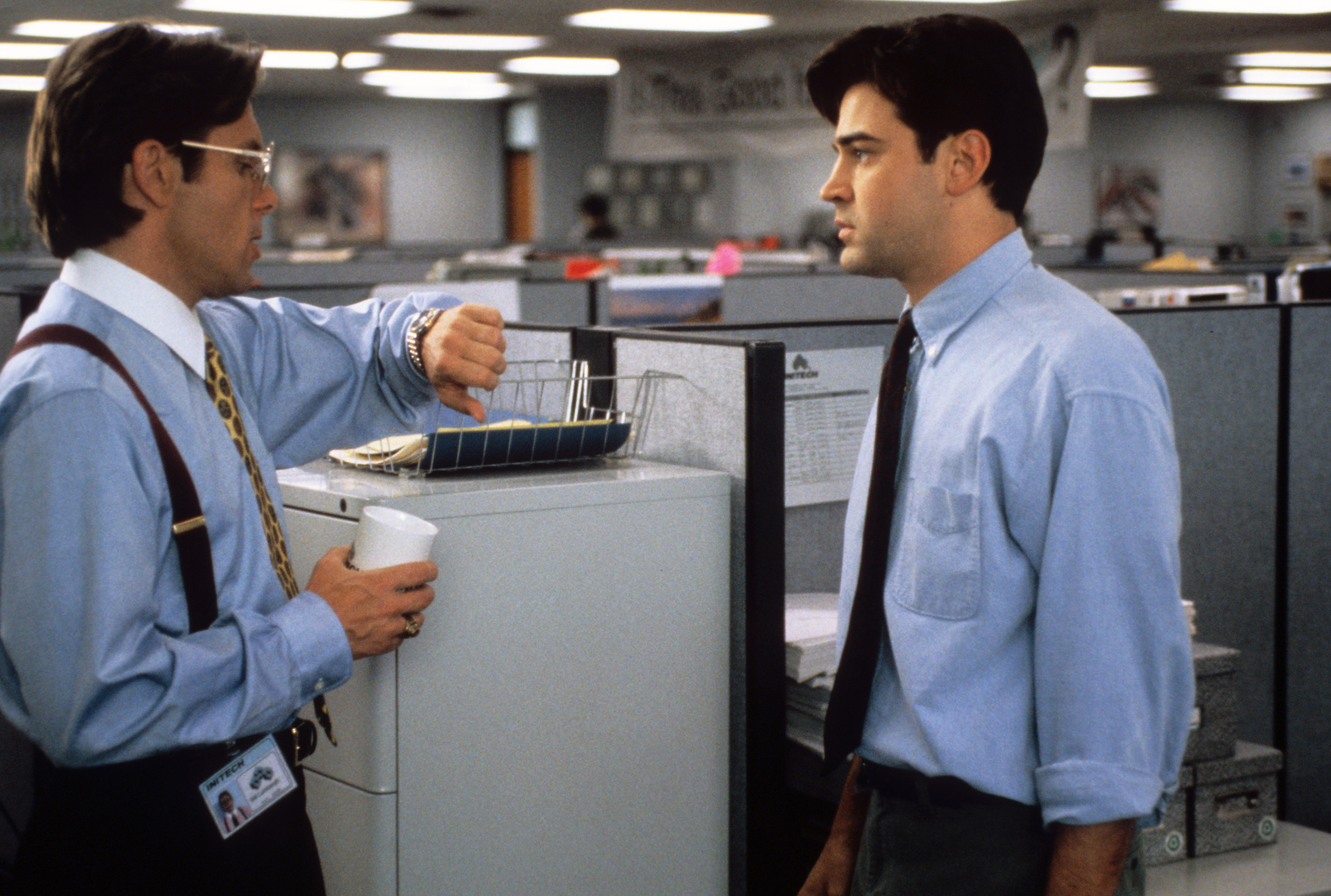 OFFICE SPACE, Gary Cole, Ron Livingston, 1999.