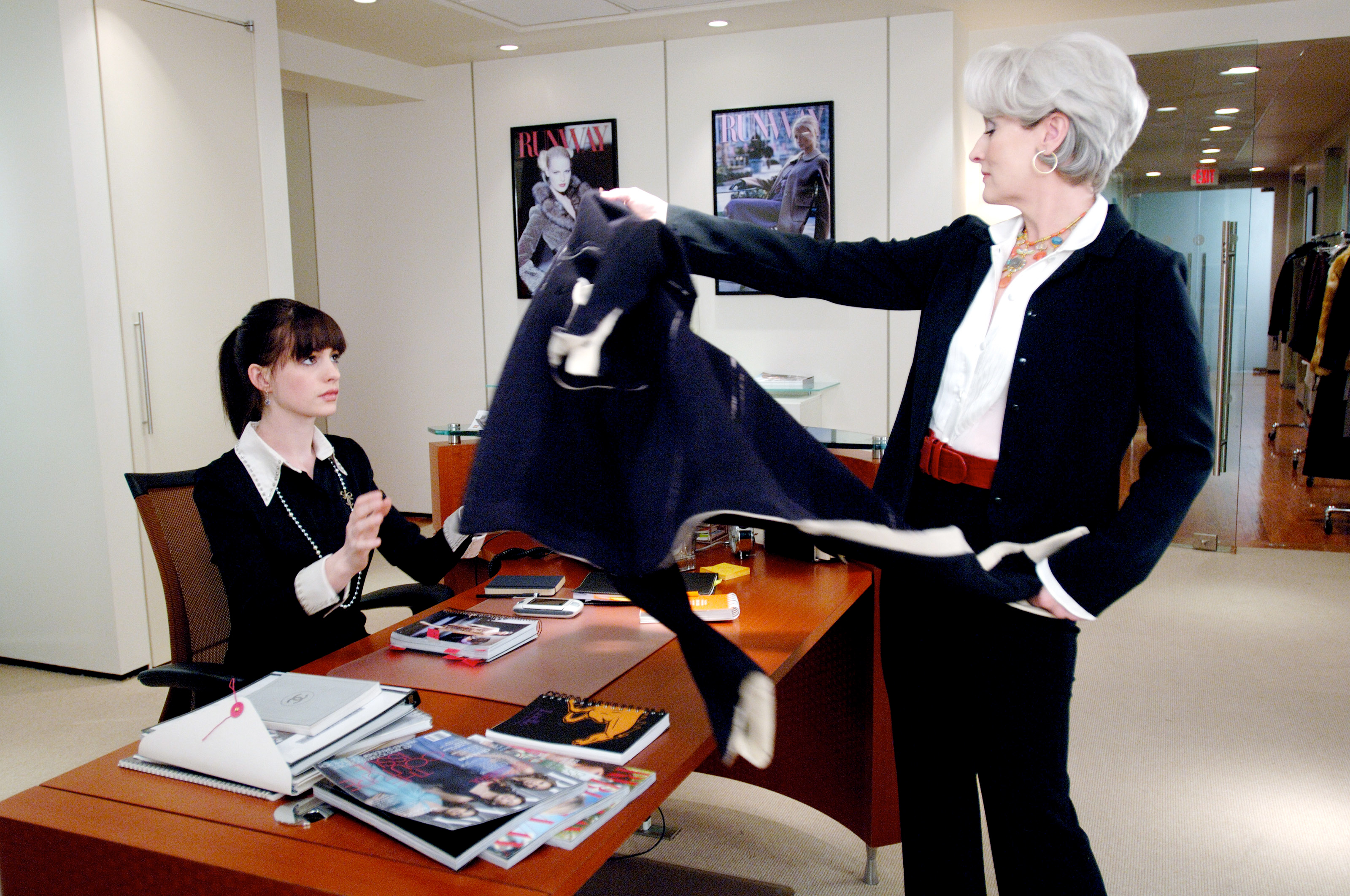 THE DEVIL WEARS PRADA, Anne Hathaway, Meryl Streep, 2006.