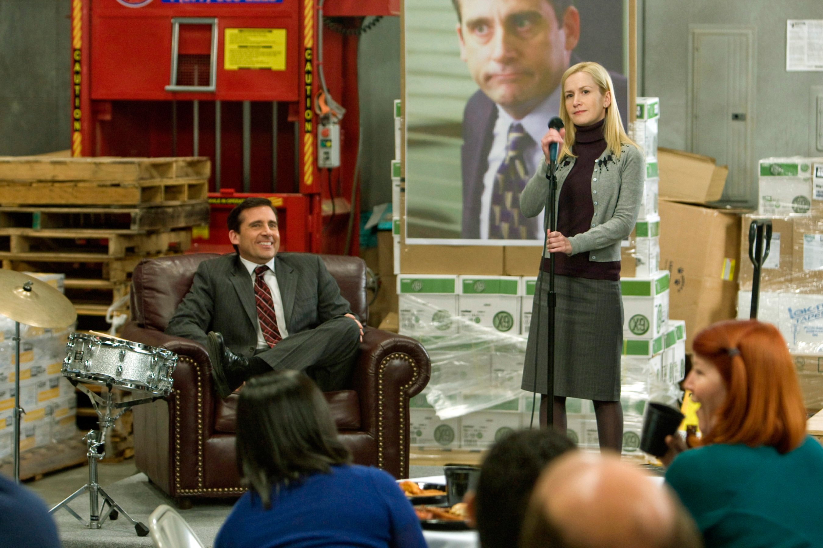 THE OFFICE, (from left): Steve Carell, Angela Kinsey, Kate Flannery, 'Stress Relief', (Season 5, aired Feb. 1, 2009), 2005-.