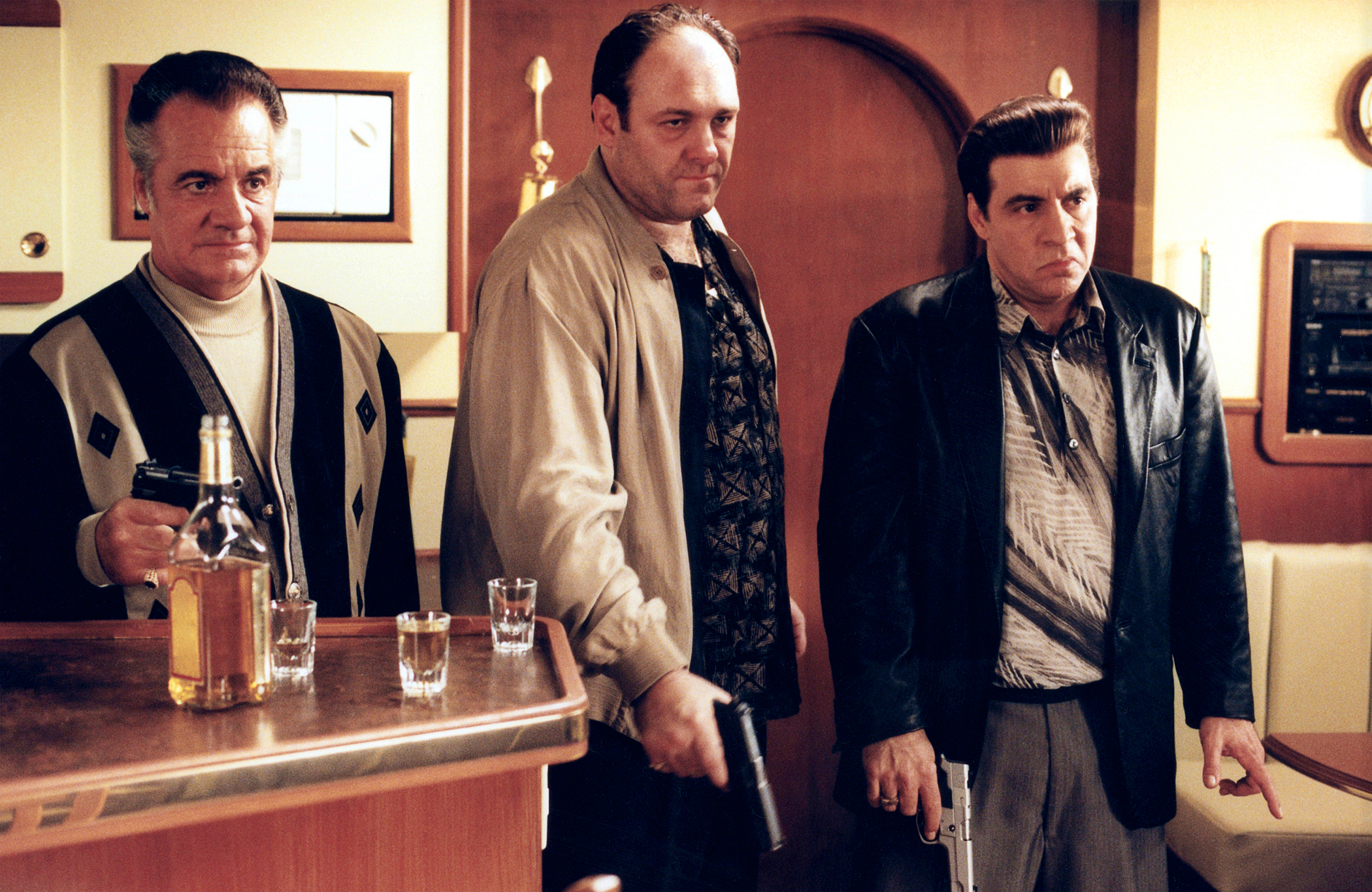THE SOPRANOS, Tony Sirico, James Gandolfini, Steven Van Zandt, (Season 2, 2000), 1999-2007.