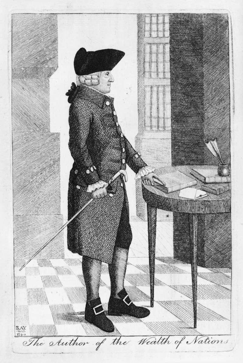 Adam Smith (1723-1790), Scottish moral philosopher, pioneer of political economy, self-help guru.