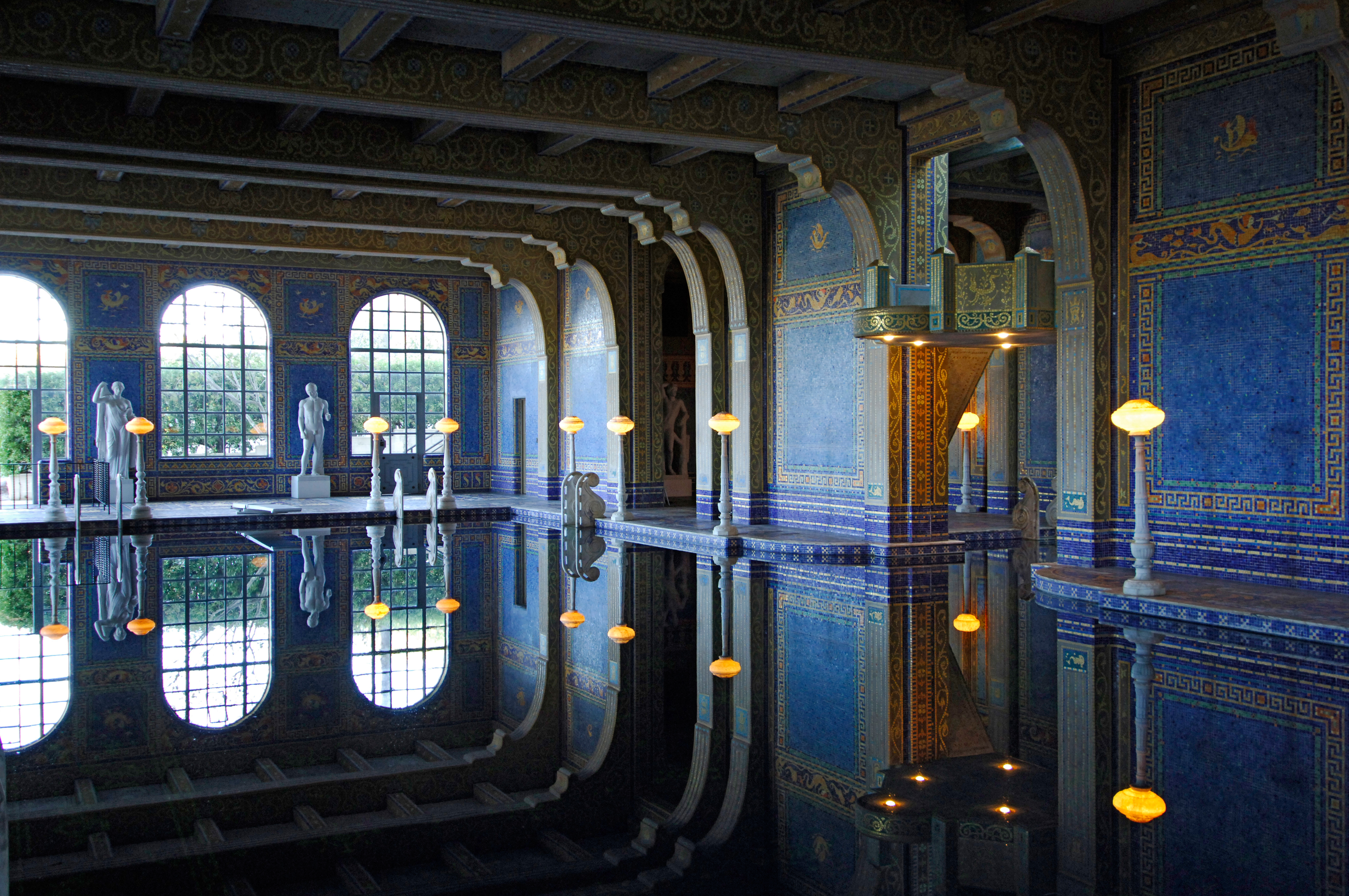 Indoor Pool at Hearst Castle, designed in style of Roman baths.