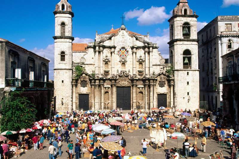 Catedral de San Cristobal, Havana, Cuba.