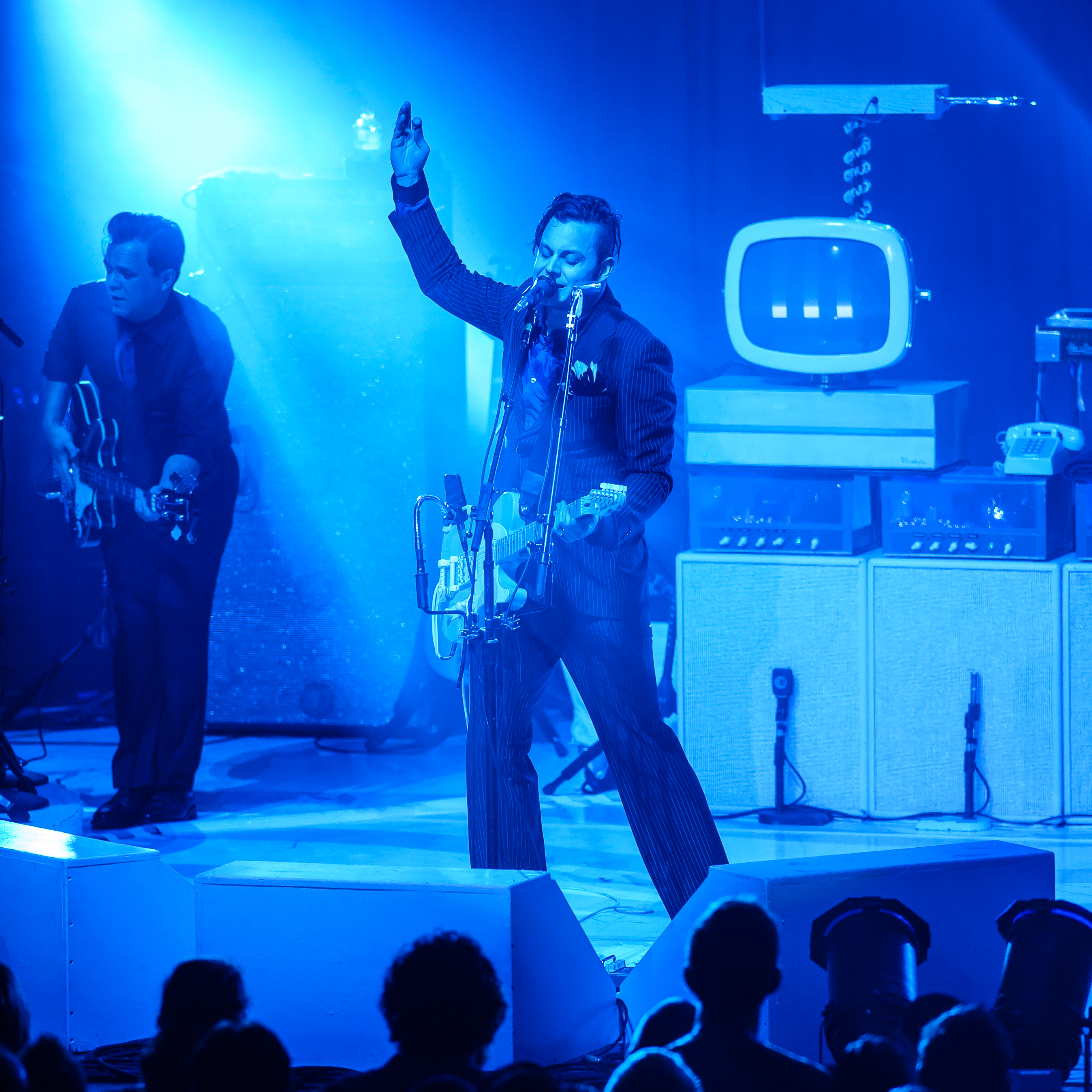 Jack White performs at Merriweather Post Pavilion in Columbia, MD.