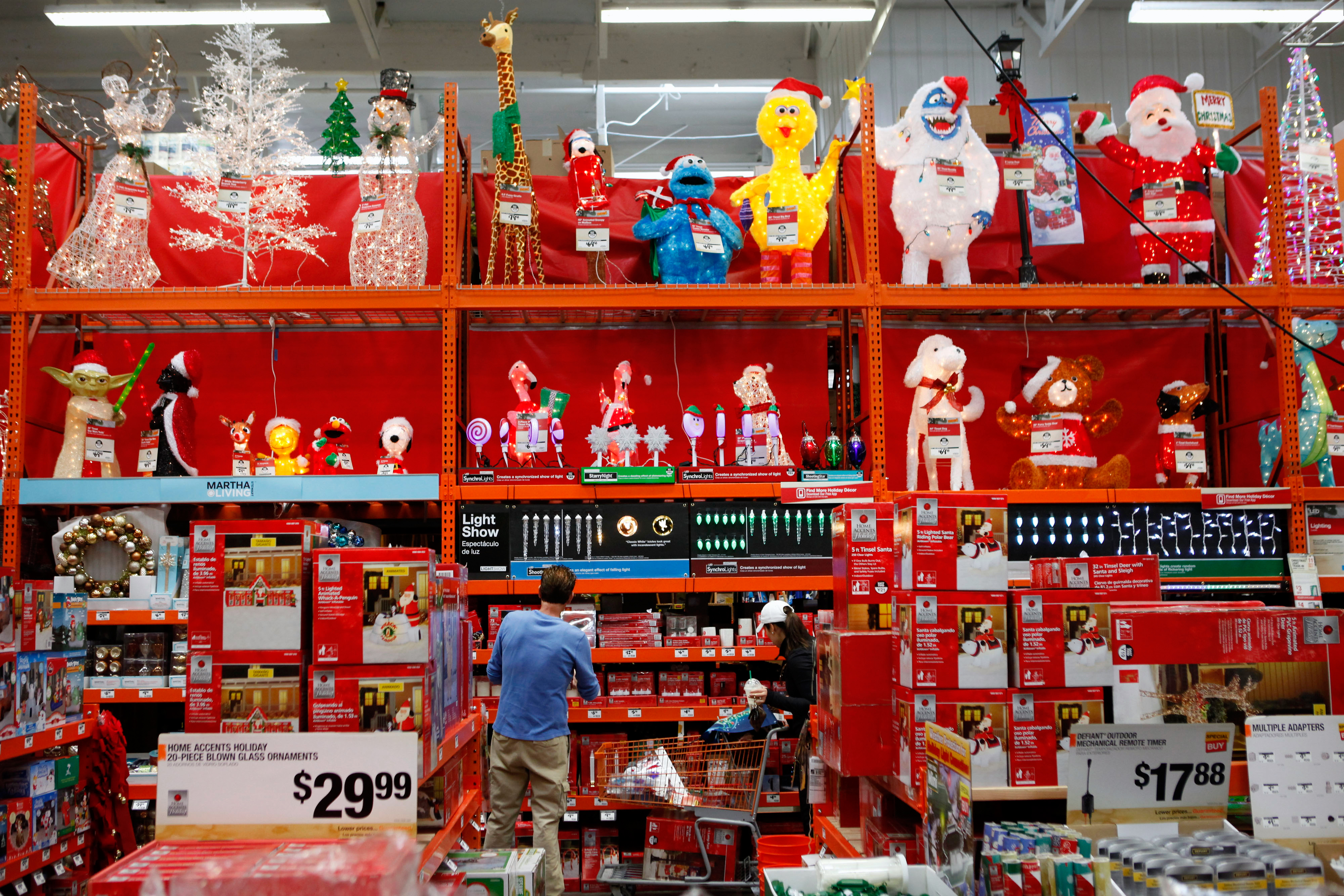 Post Christmas Decorations Deals At Home Depot Walmart Target Sears Money