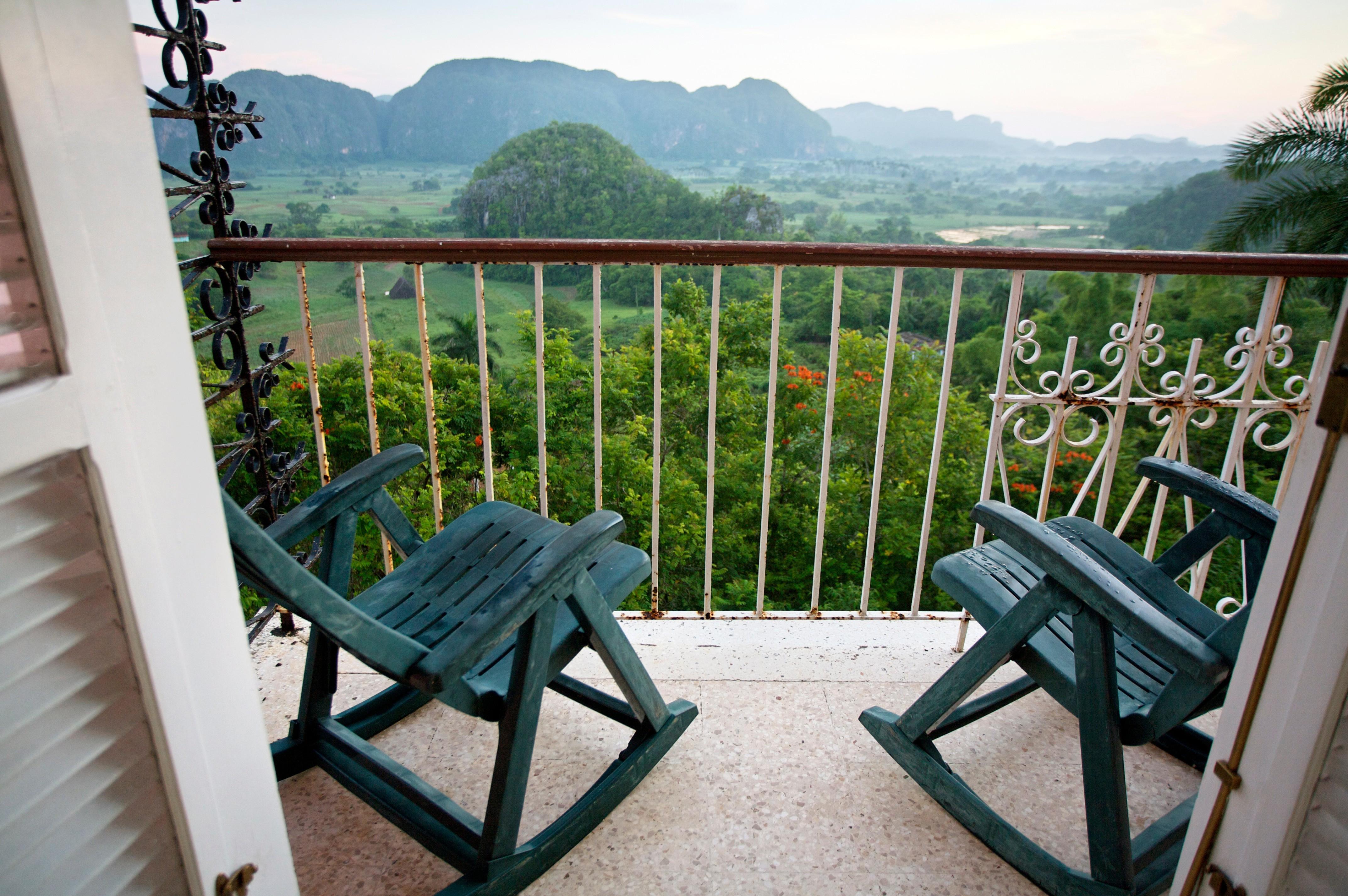 View from hotel Los Jazmines, Viñales Valley,  Pinar del RÌo province,  Cuba.