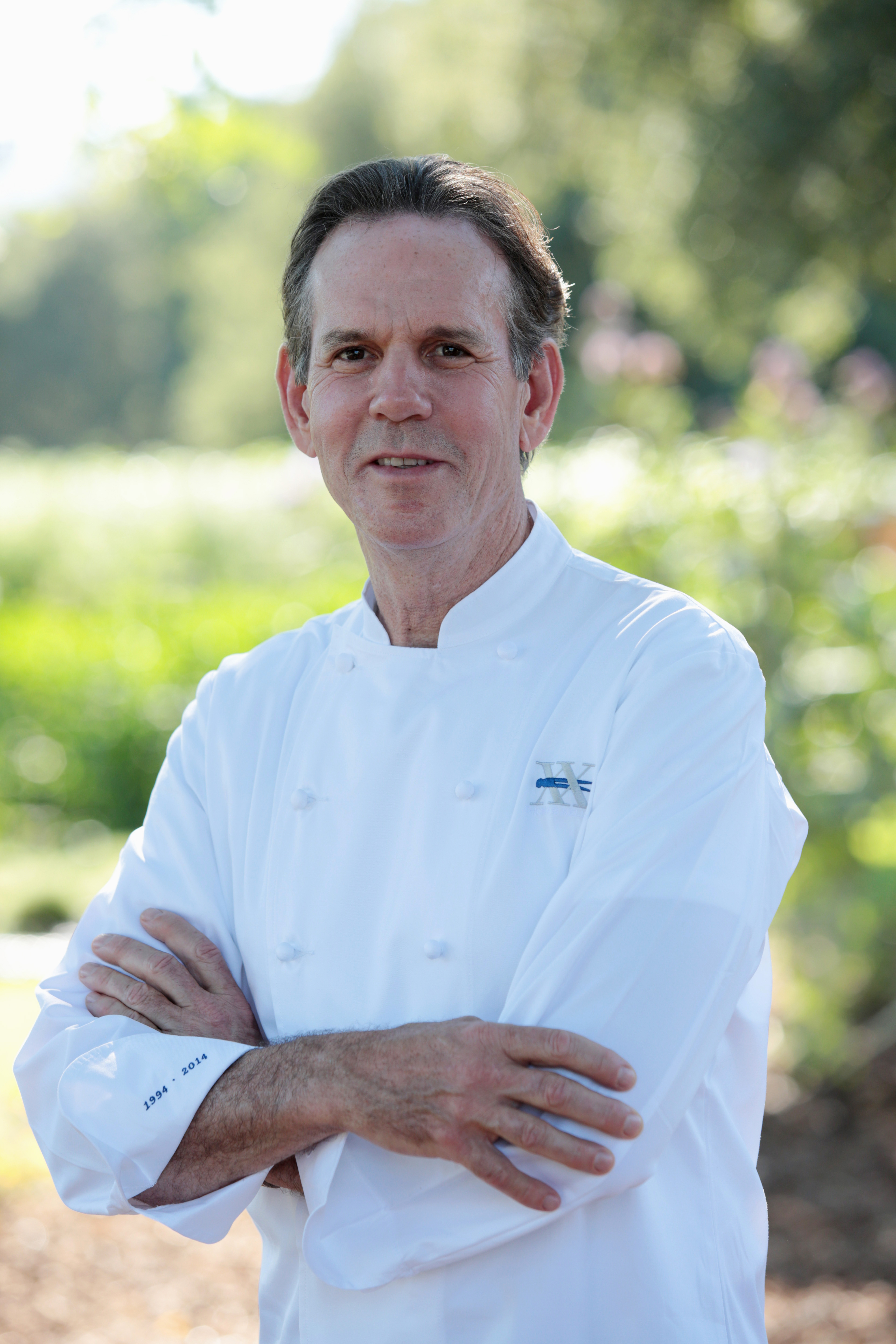Chef Thomas Keller arrives at The French Laundry's 20th Anniversary Celebration, Saturday, July 5, 2014, Yountville, CA.