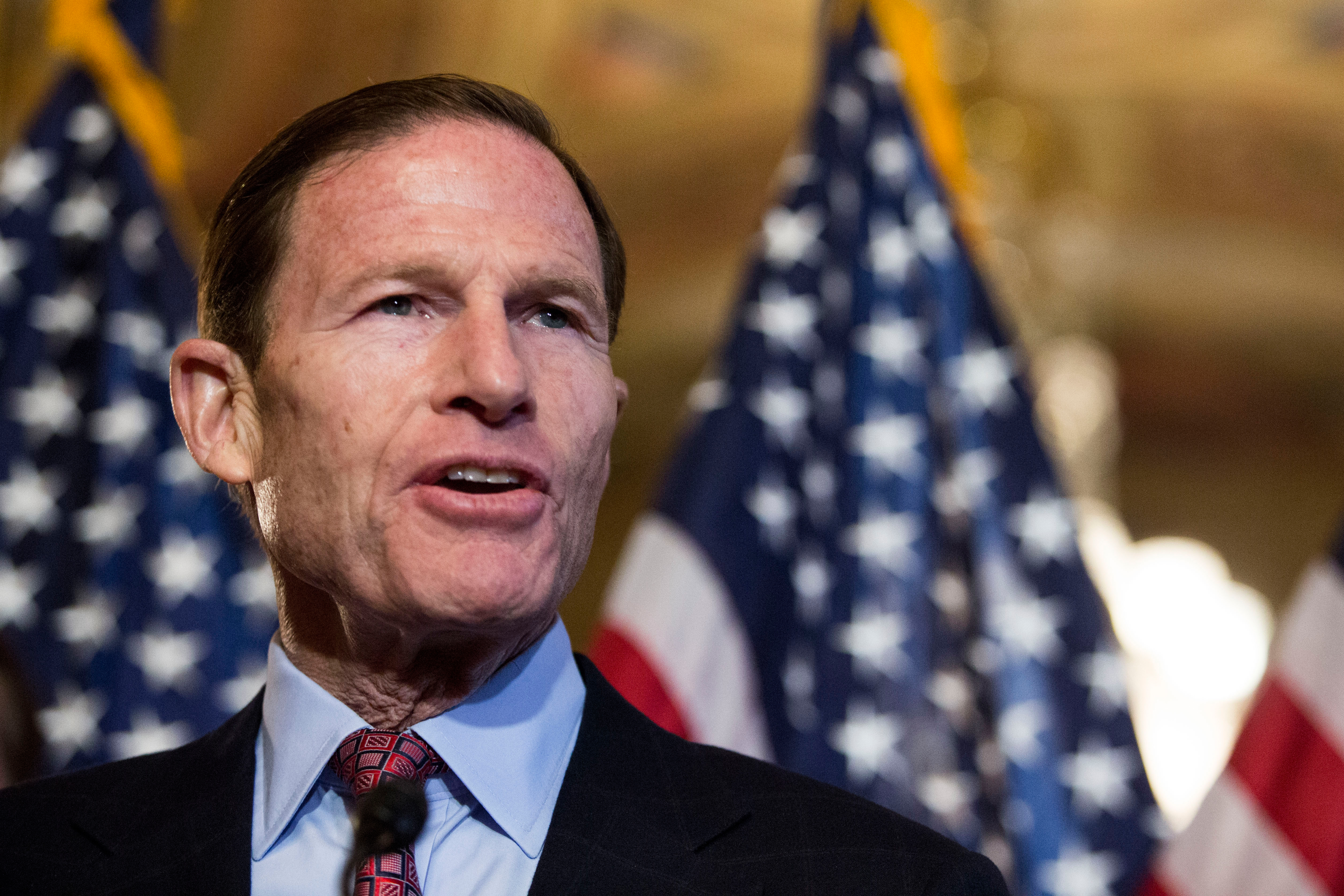 Sen. Richard Blumenthal (D-CT) speaks during a news conference on Capitol Hill, December 10, 2014 in Washington, DC.