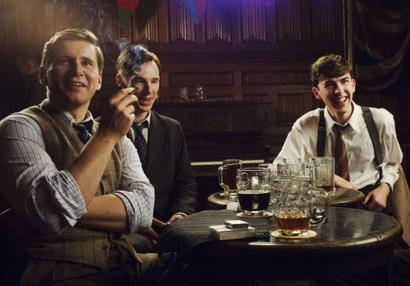 THE IMITATION GAME, from left: Allen Leech, Benedict Cumberbatch, Matthew Beard, 2014.
