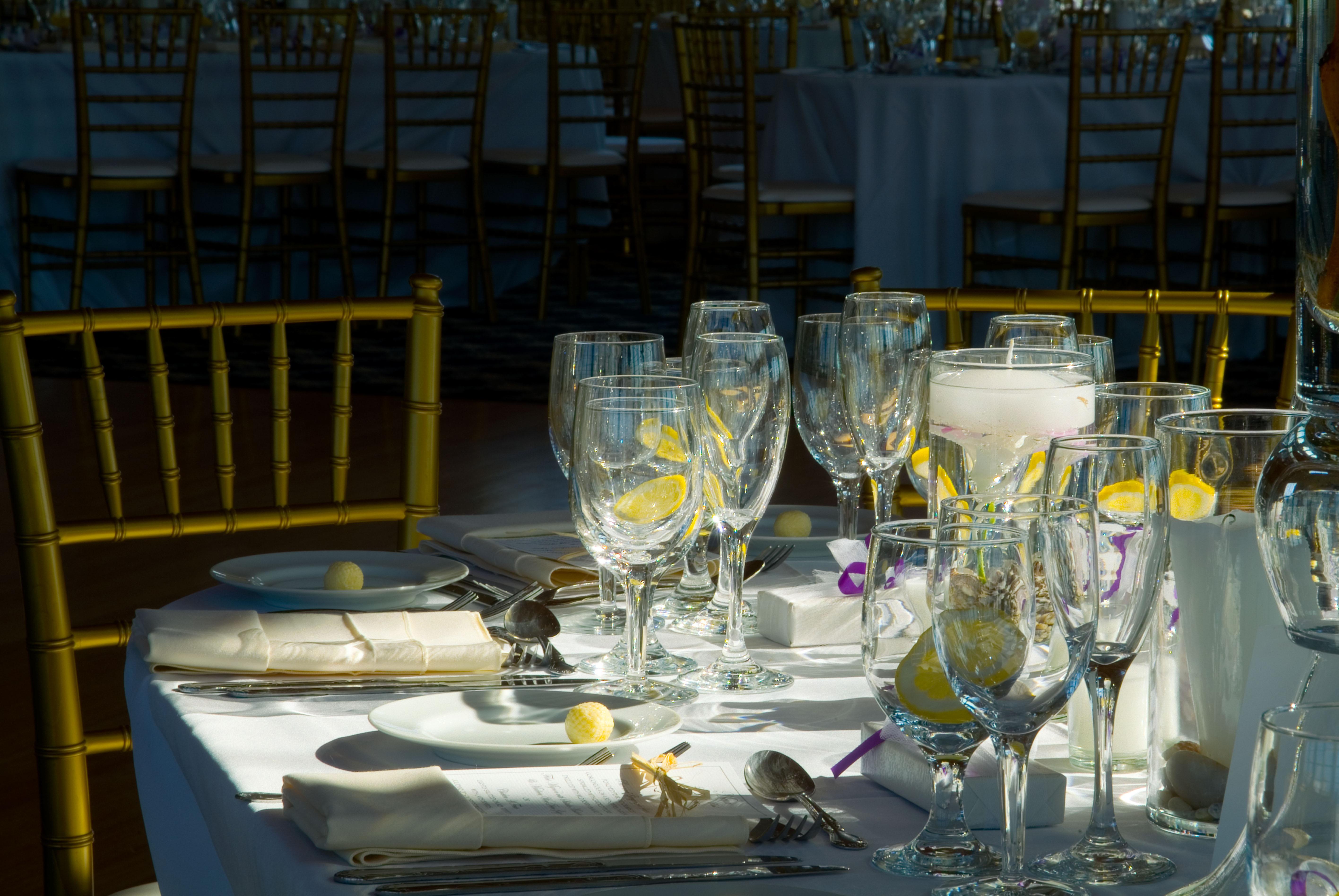 dark wedding banquet hall