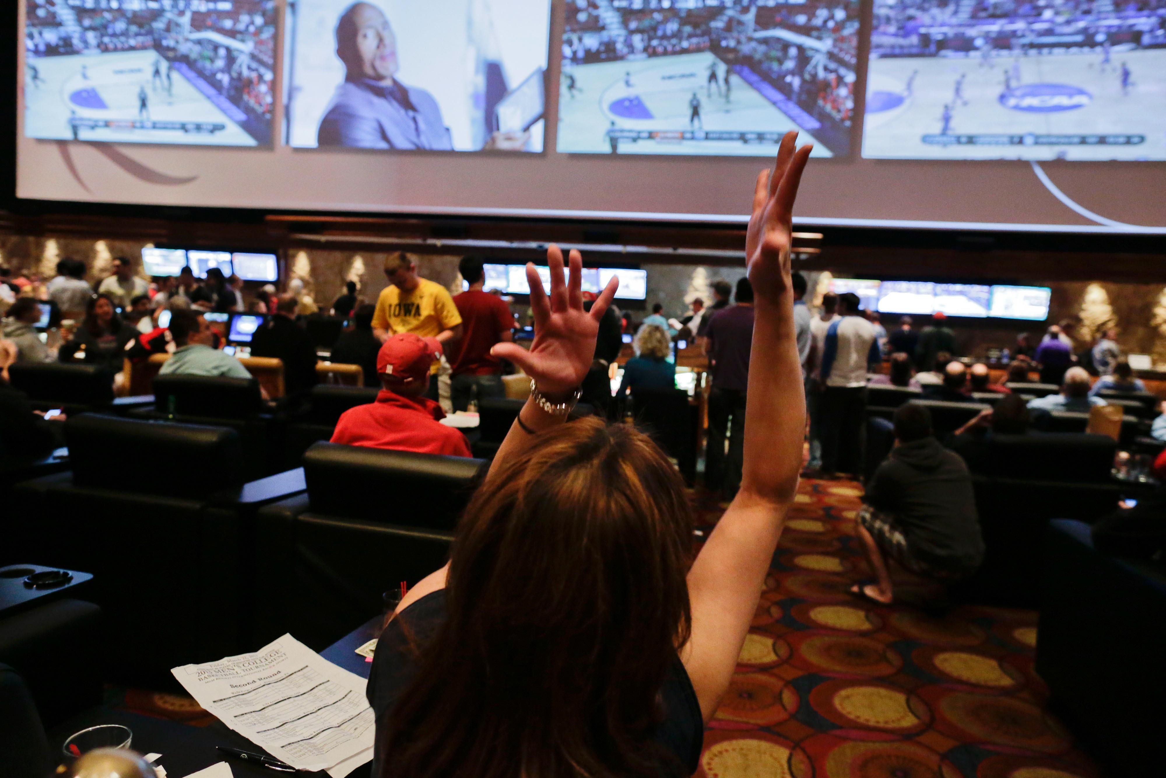 Mirage hotel-casino Race and Sports Book, Las Vegas.