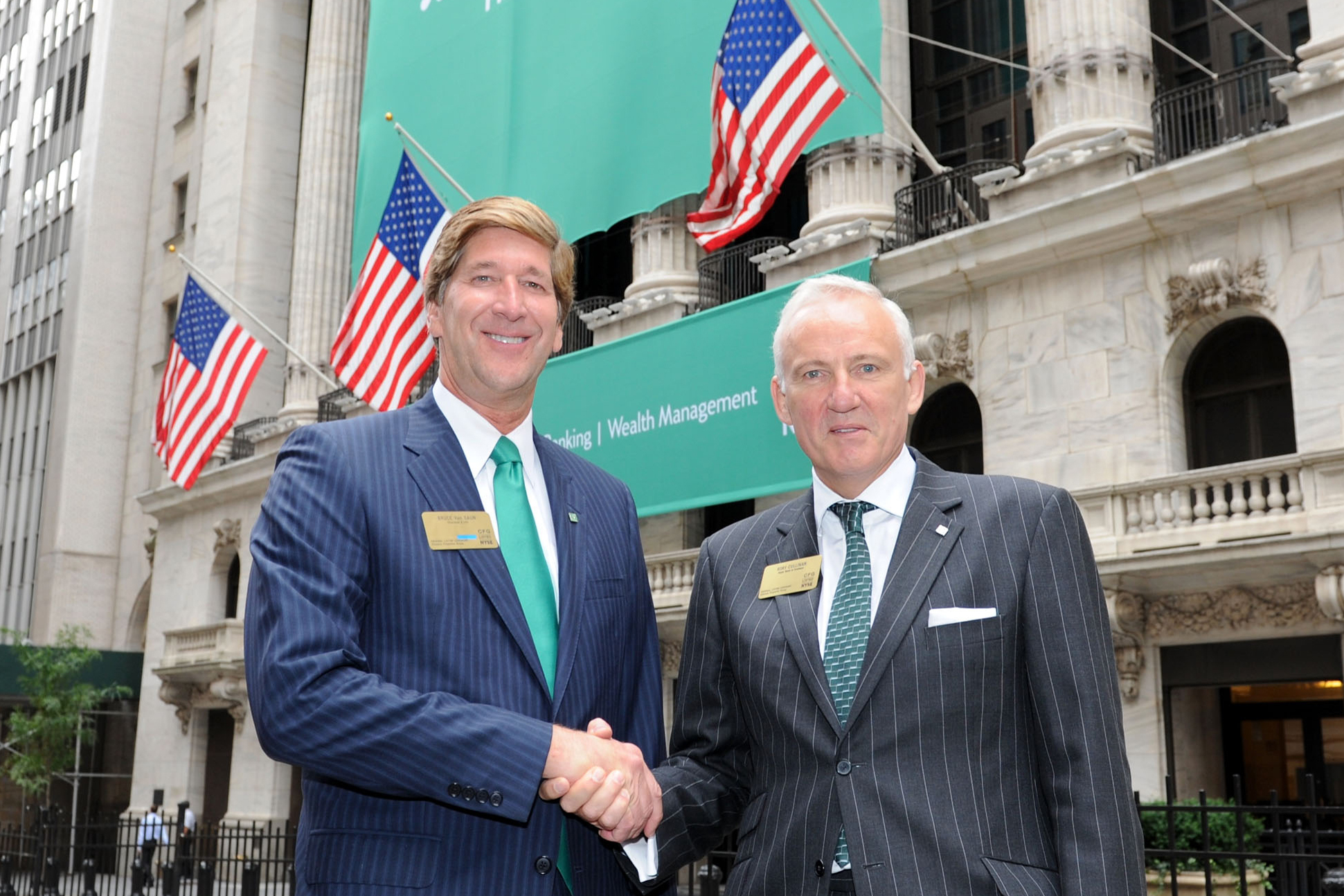 Rory Cullinan, right, with Bruce Van Saun, CEO of Citizens Financial Group, in September 2014.