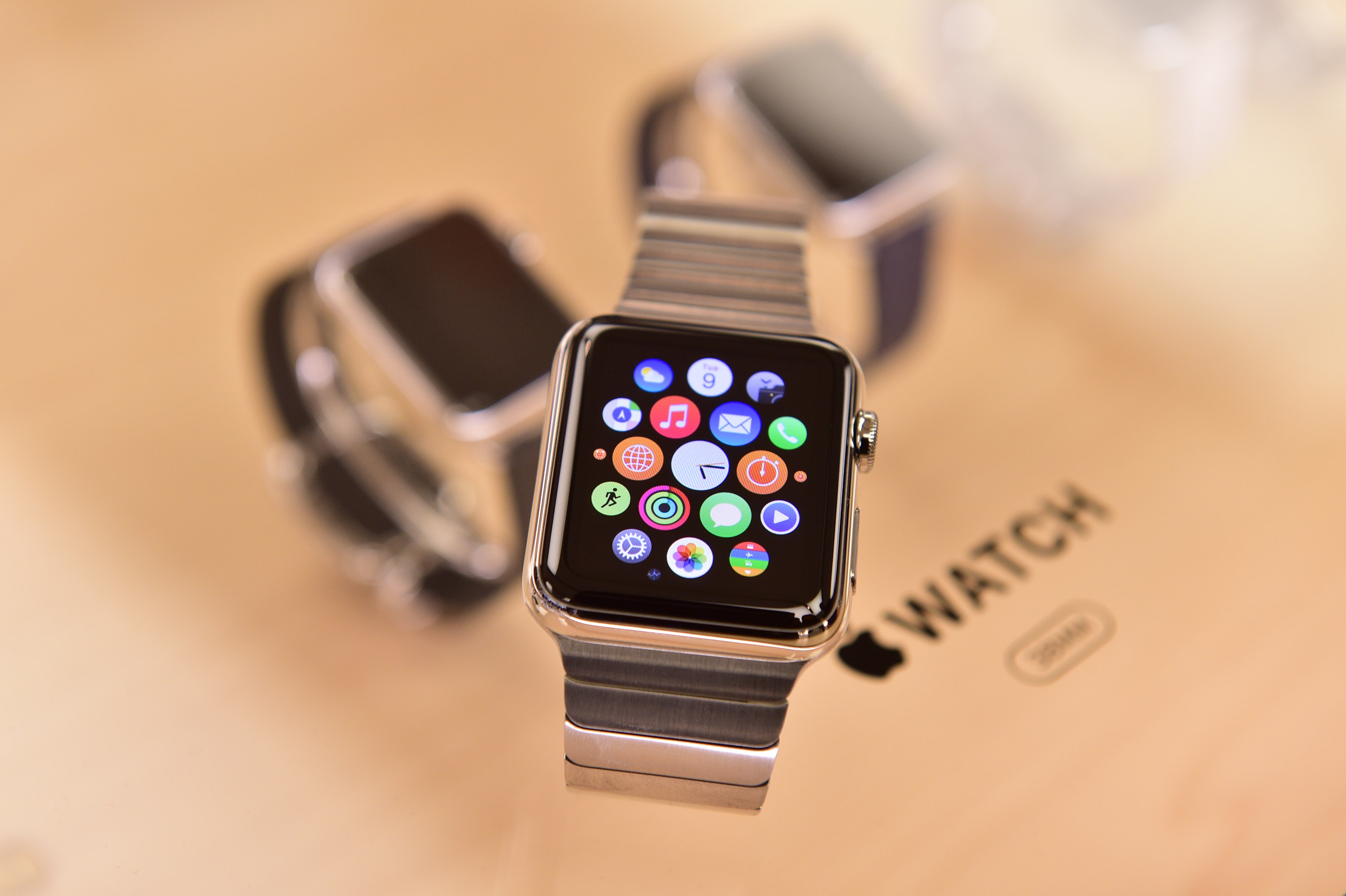 The Apple Watch, officially released on April 24, 2015. The sport model starts at $349. The mid-tier Apple Watch starts at $499, while the Apple Watch Edition starts at $10,000.