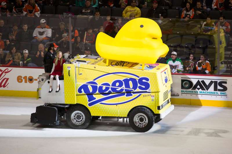 Yes, there's even a Peeps Zamboni.