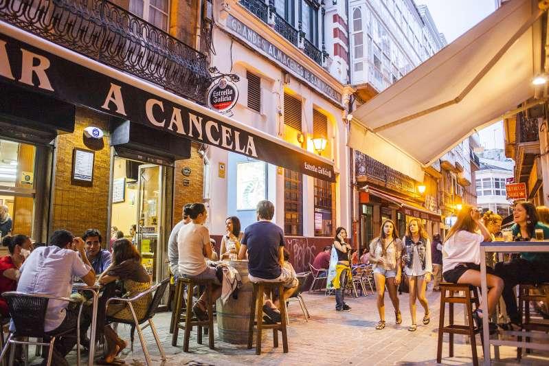 Calle Barrera, Coruña city, Galicia, Spain