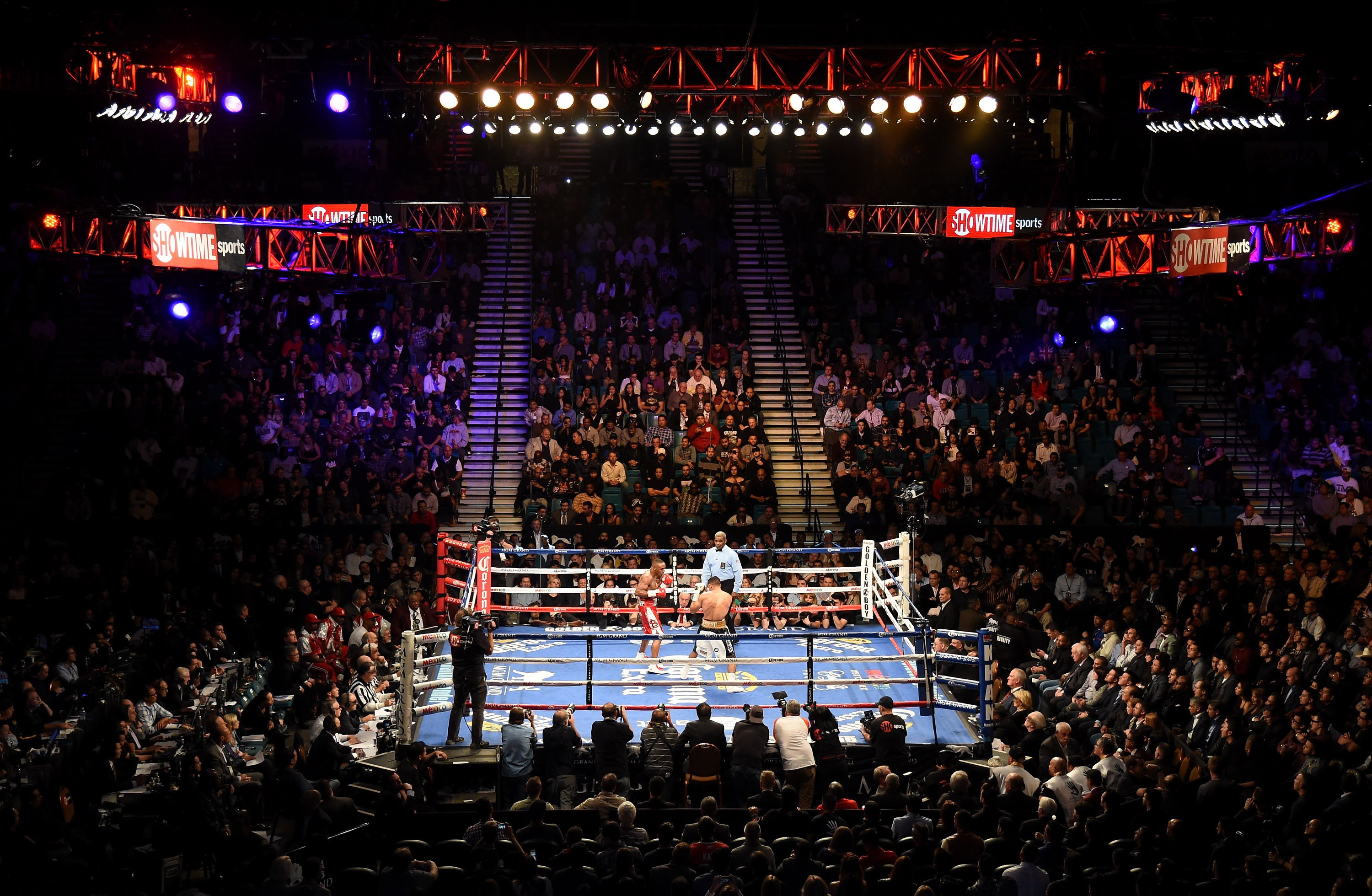 A general view of the ring at the MGM Grand Garden Arena in Las Vegas, Nevada.