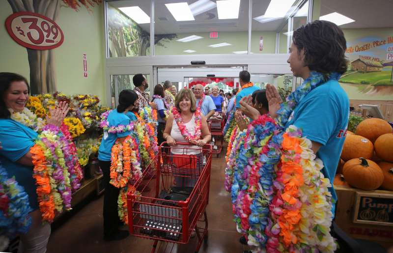 The opening on the new Trader Joe's store in Palm Beach Gardens store in Florida on Friday, September 19, 2014.