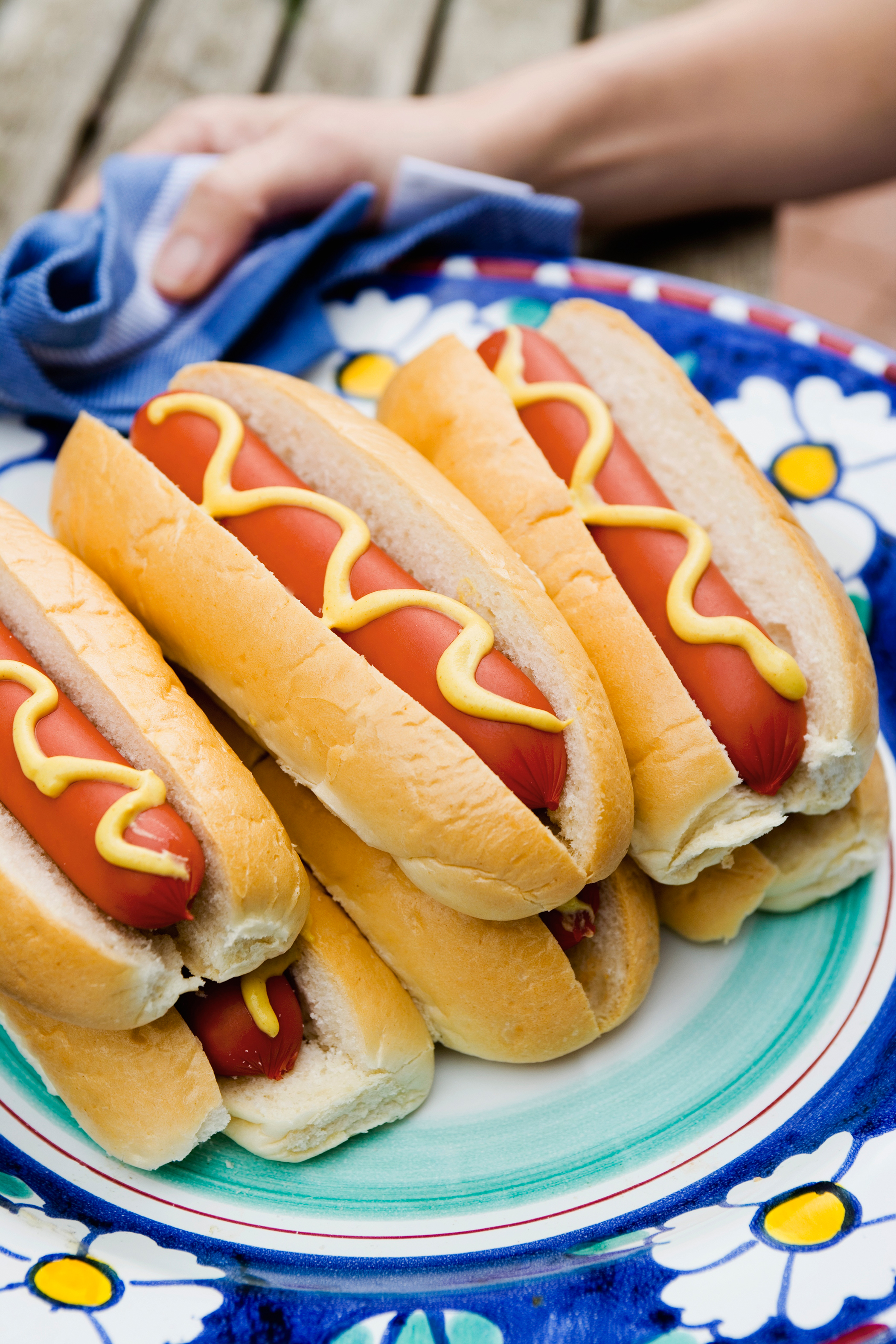 hot dogs on plate
