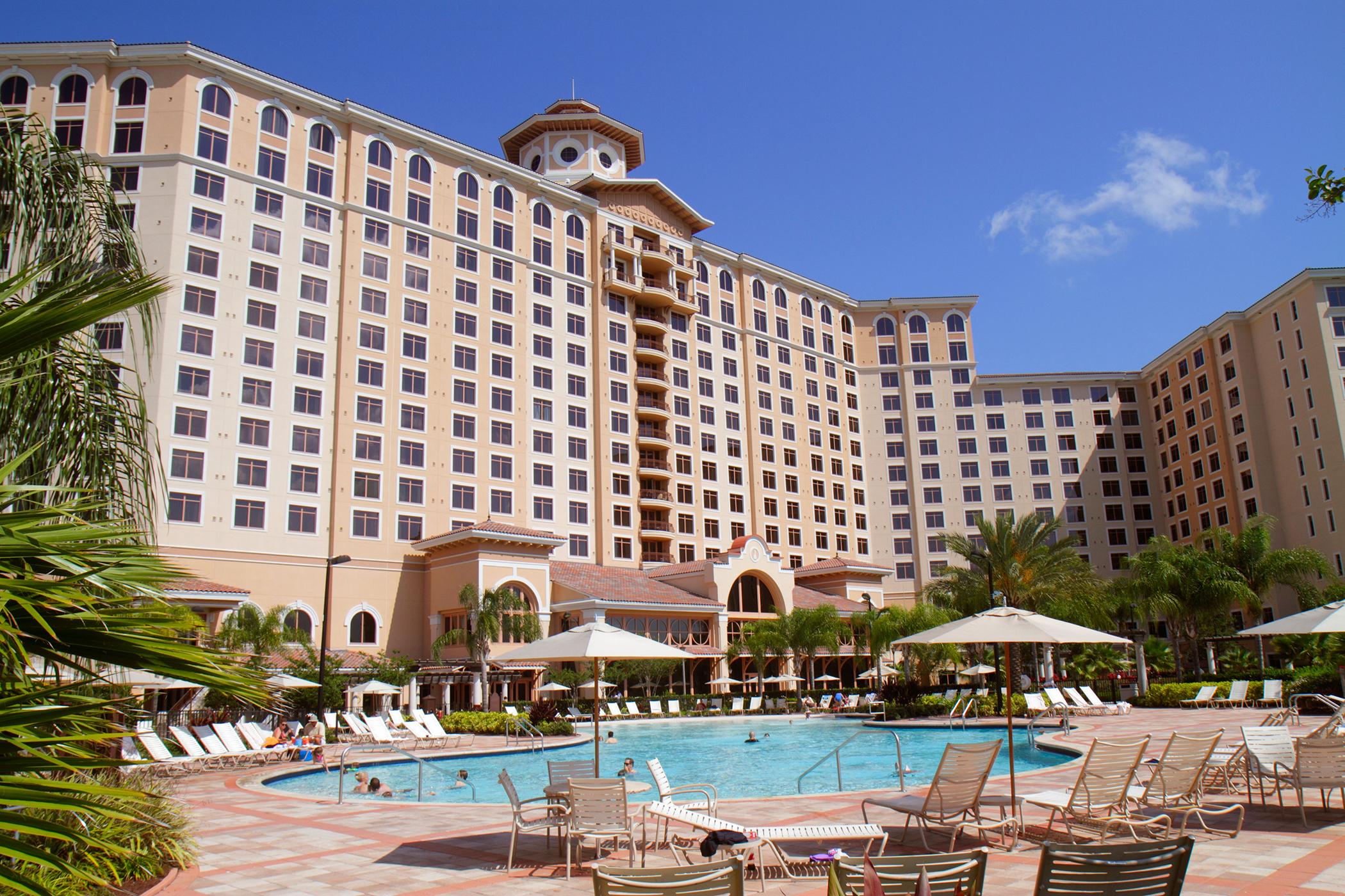 Rosen Shingle Creek Hotel resort exterior property swimming pool, Orlando, Florida