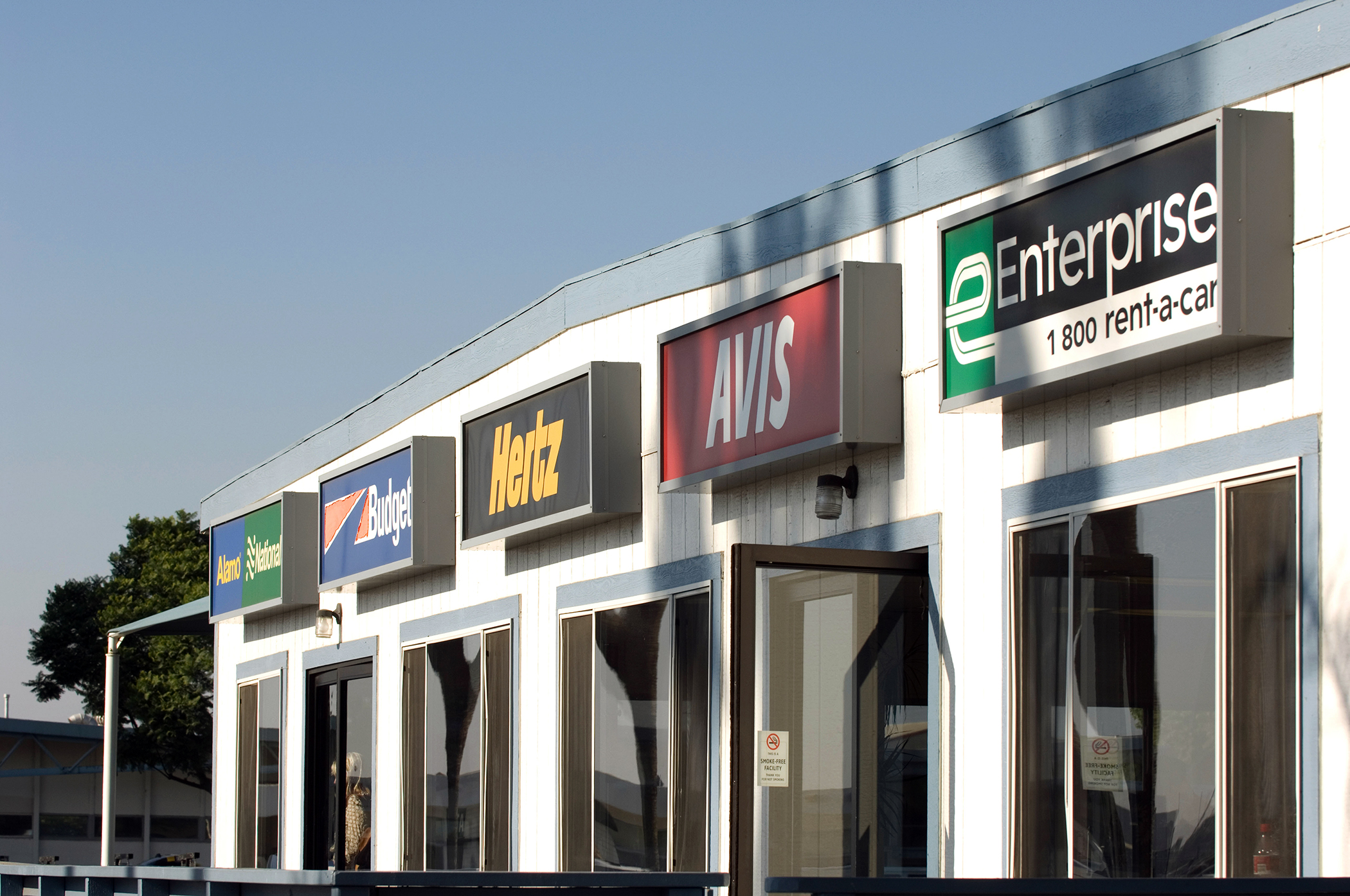 Airport car rental offices at the Long Beach California Airport