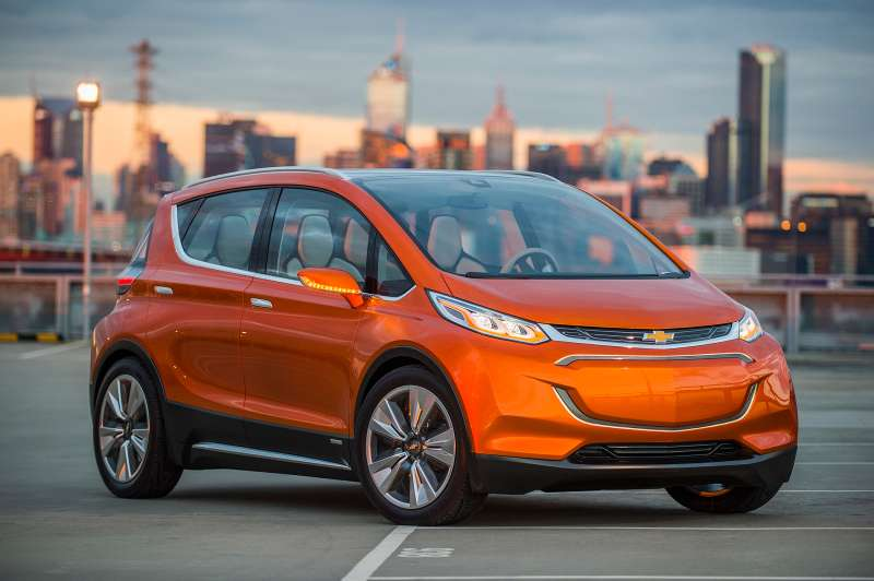 Chevrolet Bolt EV Concept all electric vehicle with more than 200 miles of range and a price tag around $30,000.