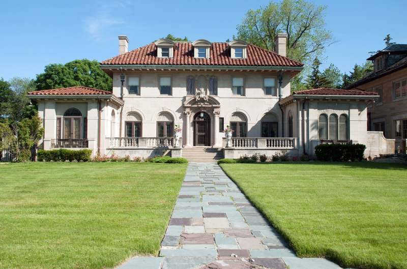 The  Motown Mansion  in Detroit where Motown Records founder Berry Gordy lived for 35 years.
