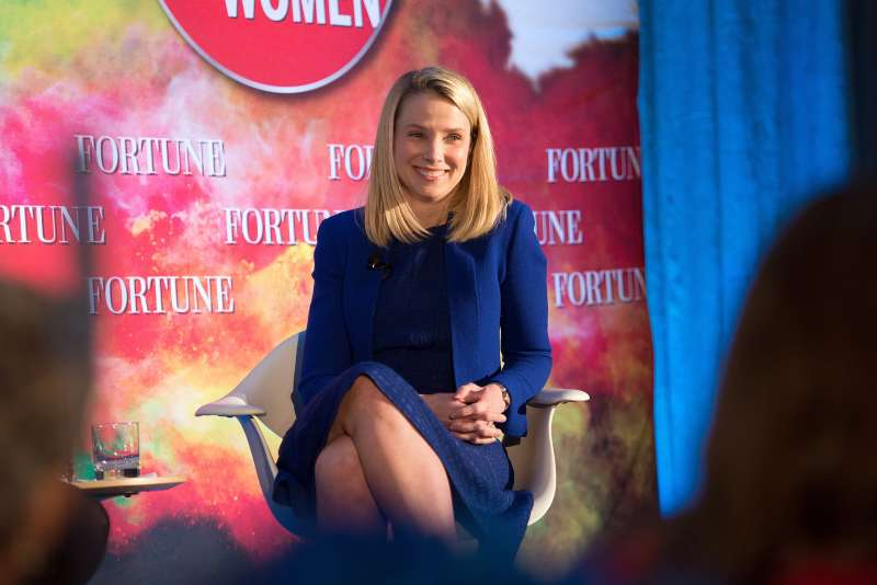 President and CEO of Yahoo Marissa Mayer attends Fortune Magazines 2015 Most Powerful Women Evening With NYC at Time Warner Center in New York City on May 18, 2015 .