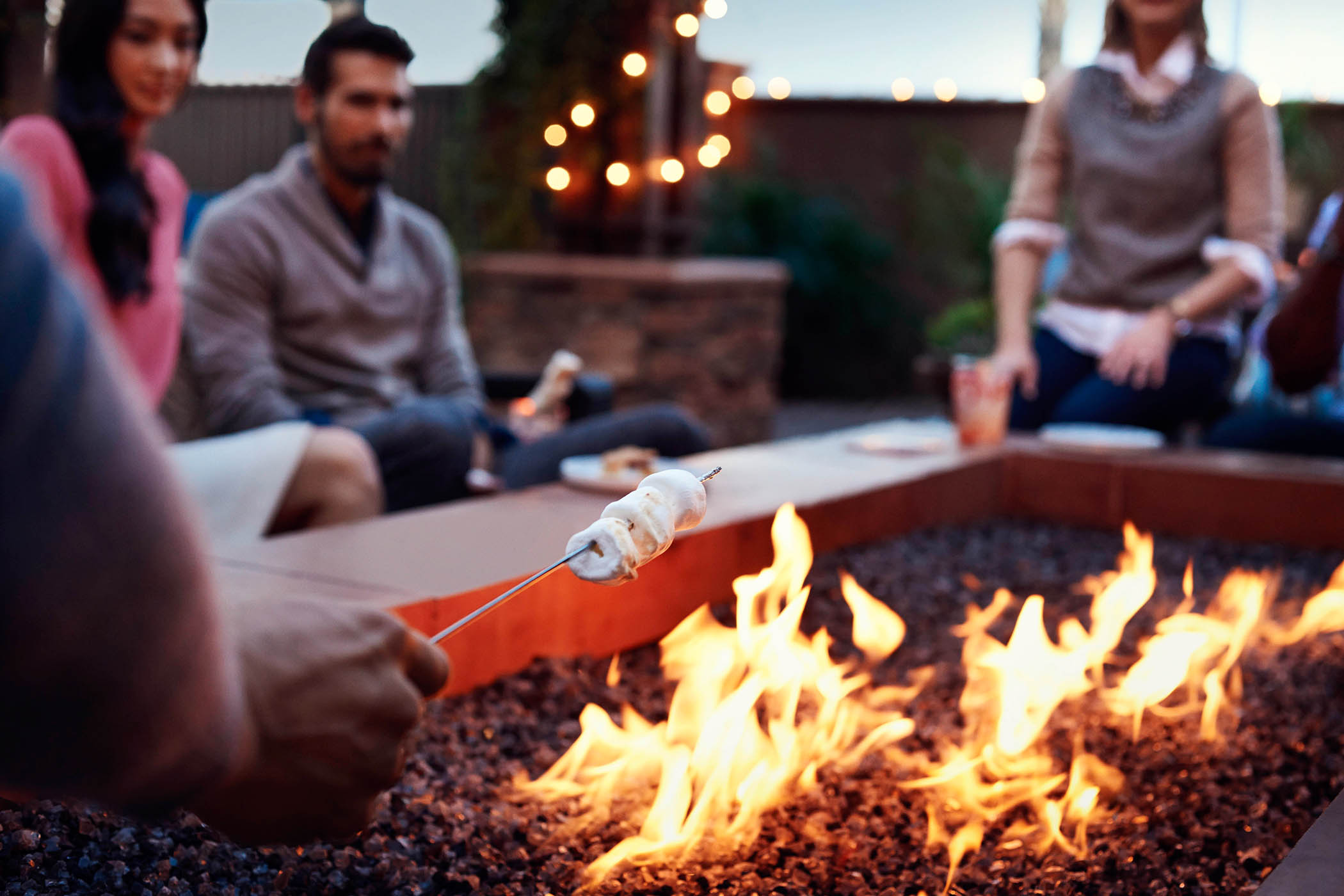 Smores on the firepit at Marriott Residence Inn