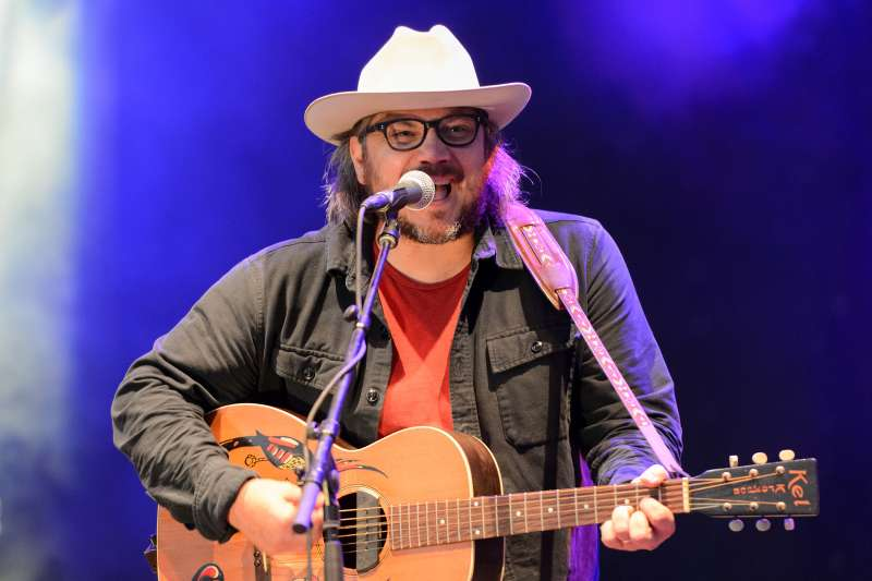 Jeff Tweedy of Wilco performs during Pitchfork Music Festival 2015 at Union Park on July 17, 2015 in Chicago, United States.