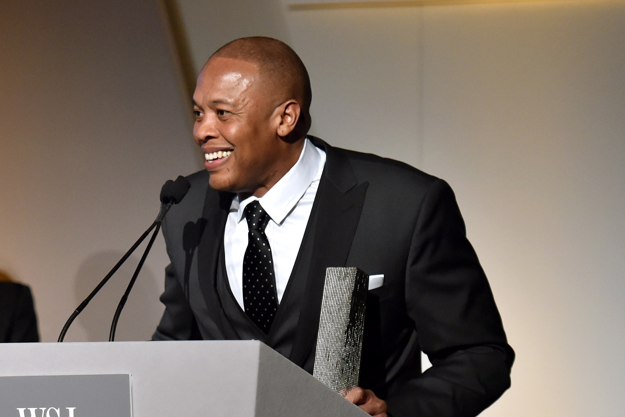 Dr. Dre speaks onstage at WSJ. Magazine's  Innovator Of The Year  Awards at Museum of Modern Art on November 5, 2014 in New York City.