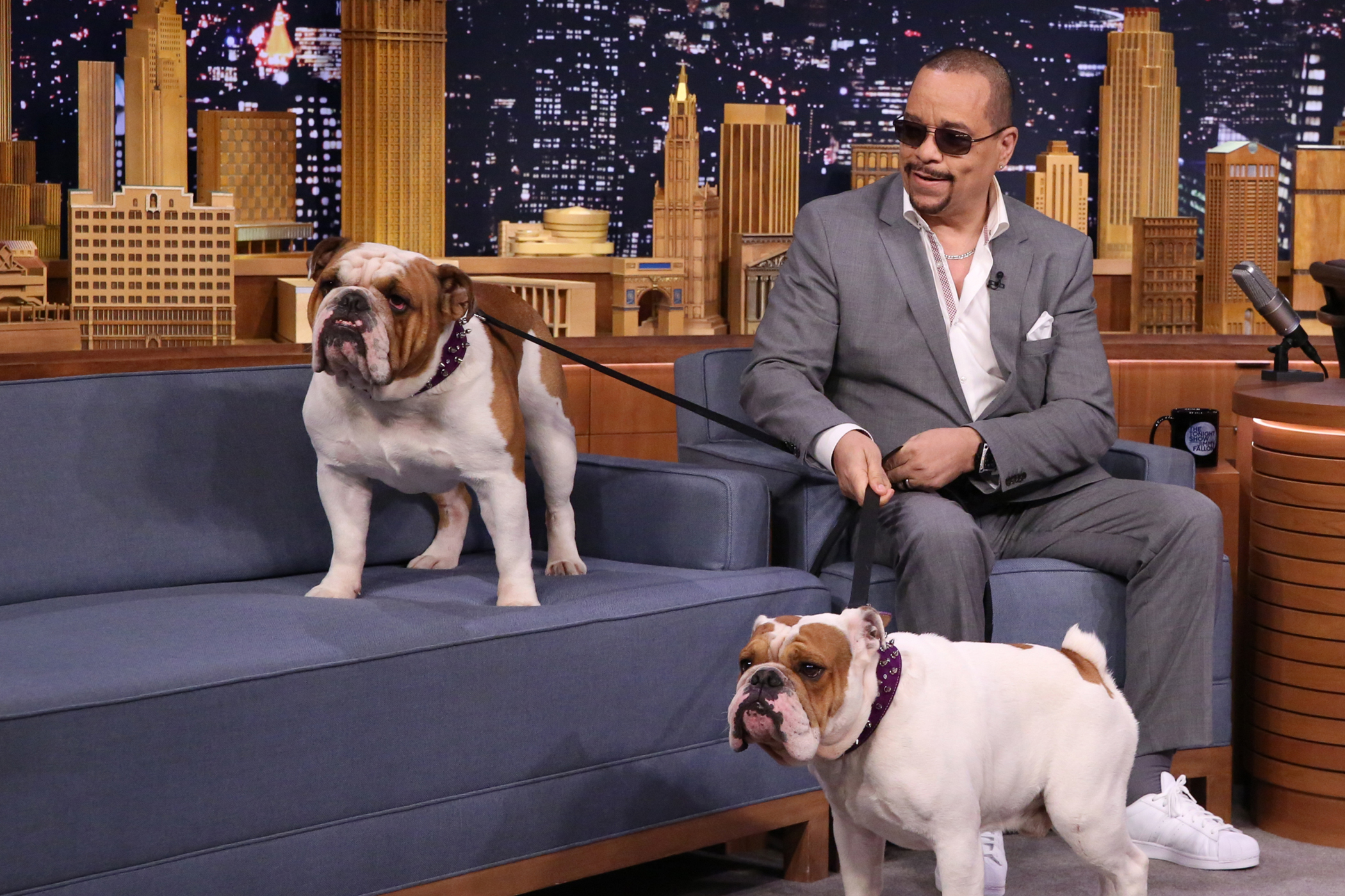 Actor Ice-T during an interview with host Jimmy Fallon on July 30, 2015.