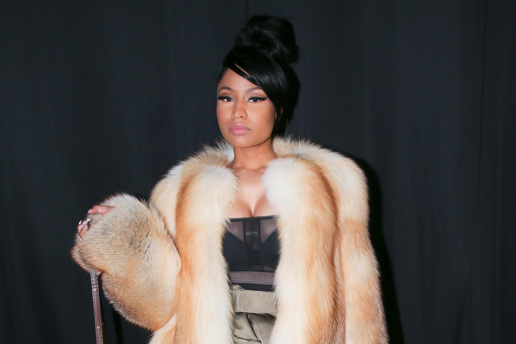 Nicki Minaj at the Marc Jacobs Fall/Winter 2015 Fashion Show at the Park Avenue Armory, New York City, February 19, 2015.